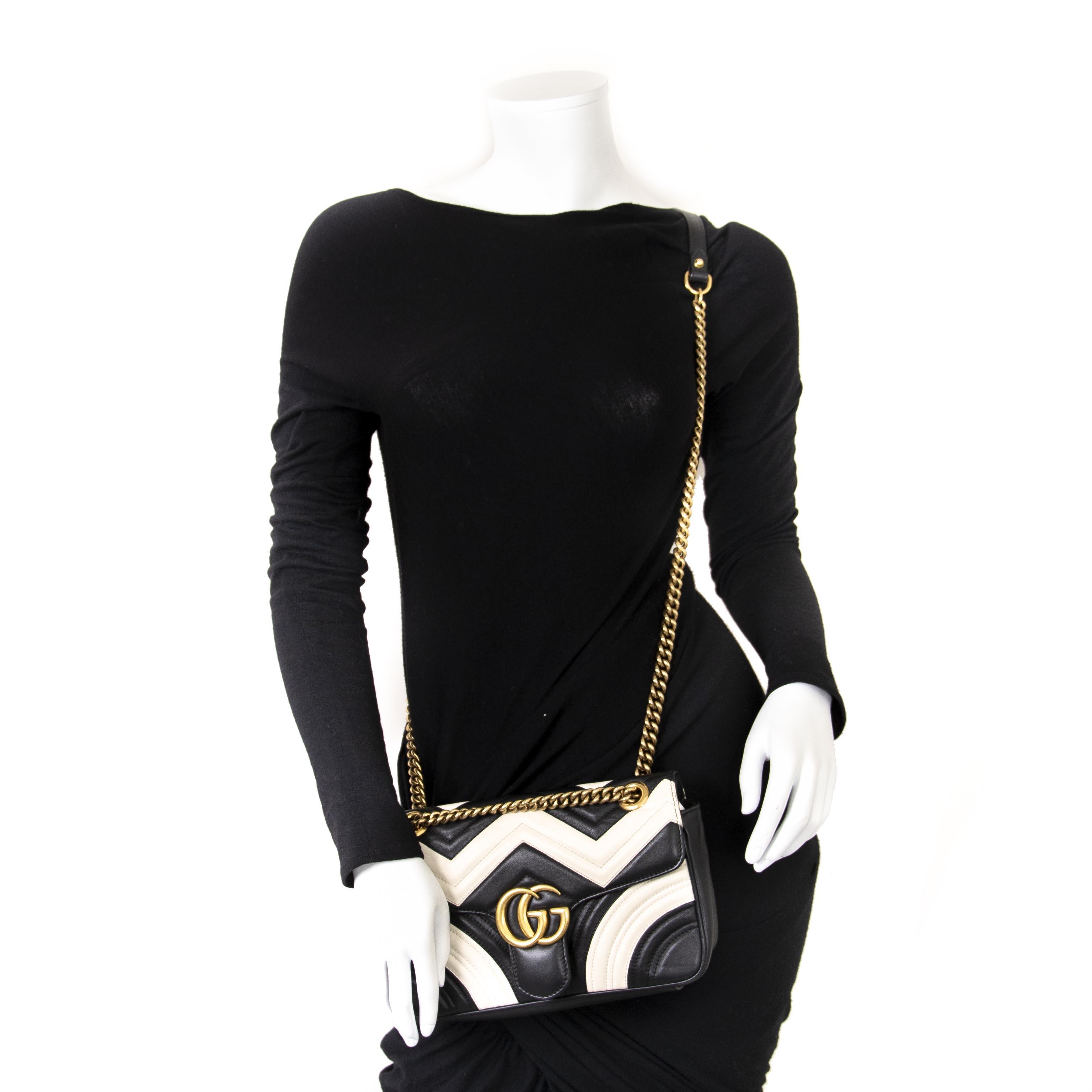 1dd94889e ... Labellov Gucci GG Marmont Chevron Shoulder Bag for sale online