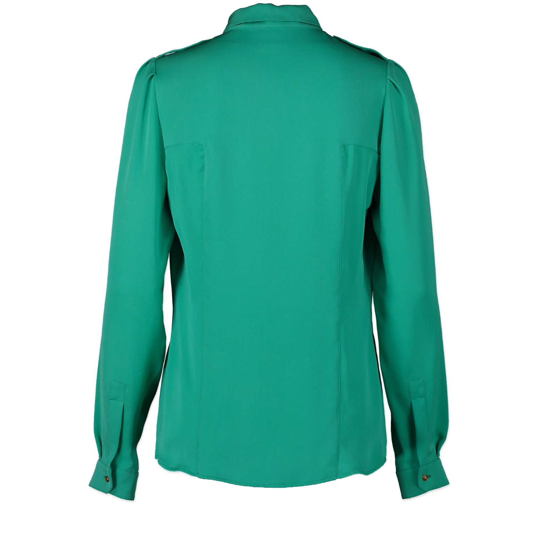 Gucci Turquoise Silk Blouse - Size 40 - we buy and sell your authentic designer bags