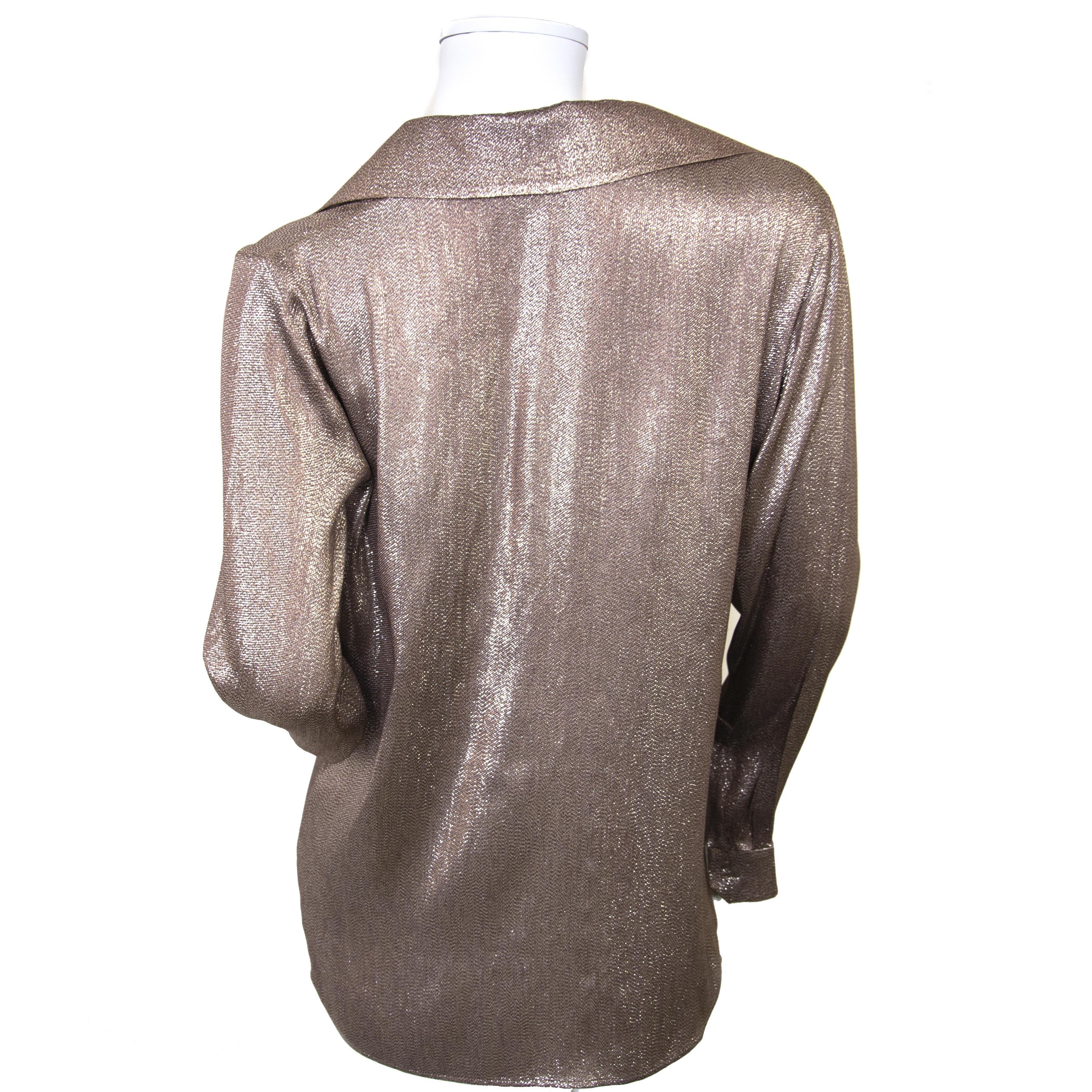 Gucci Silk Shimmer Blouse