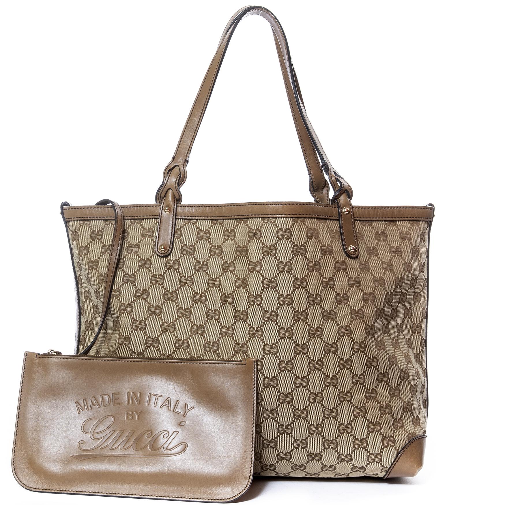 Gucci Monogram Canvas Shopper