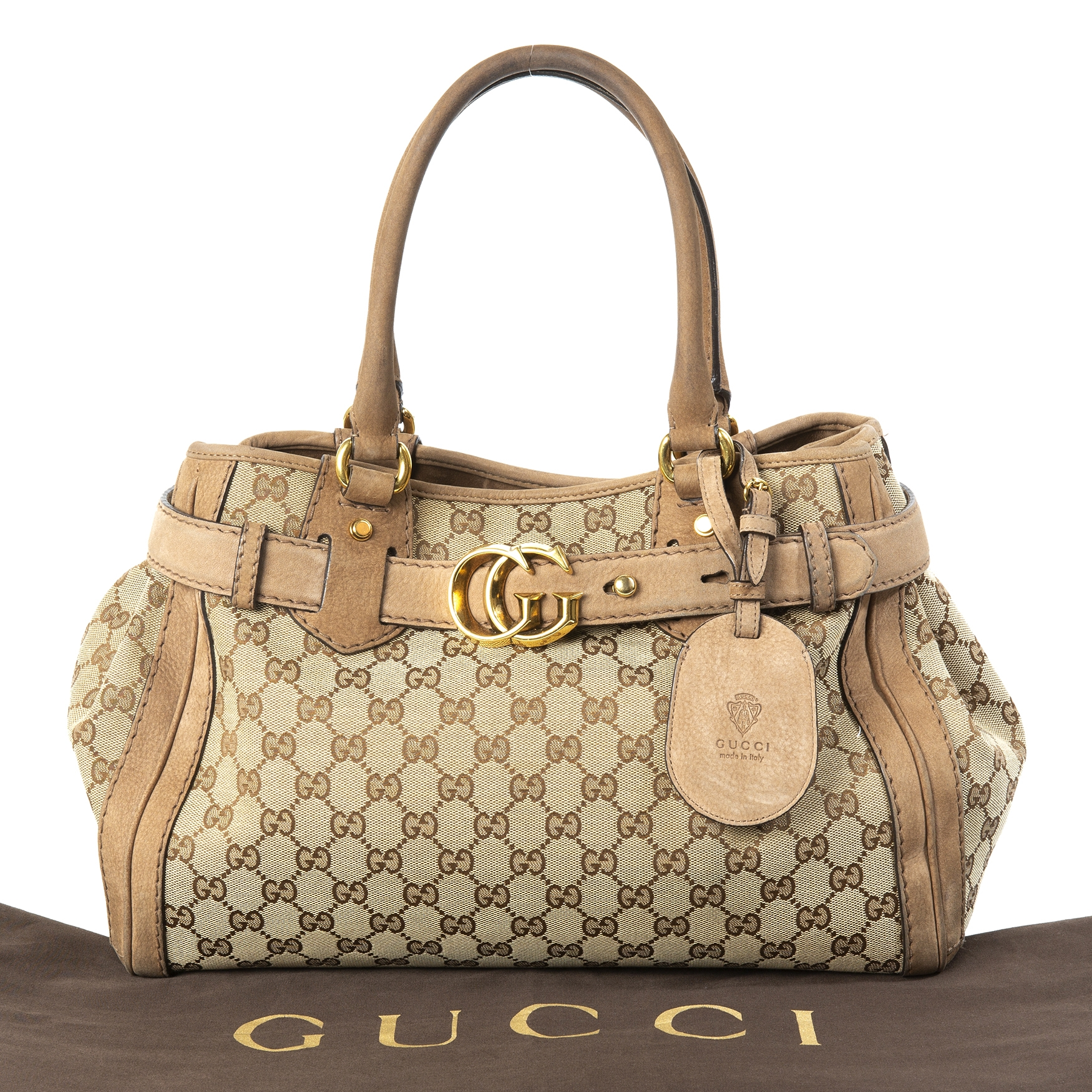 c37a0aeca252 ... gucci medium GG running leather tote now for sale at labellov vintage  fashion webshop belgium