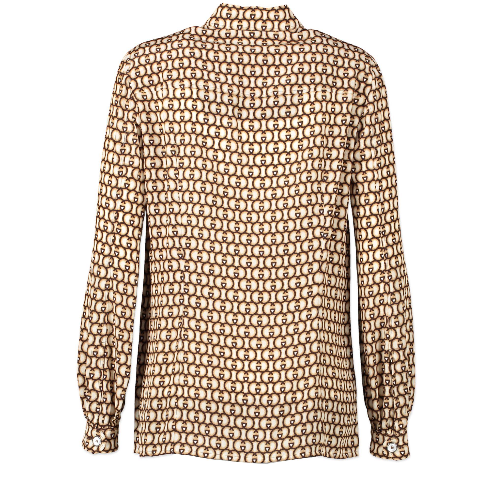 Gucci Silk Monogram Tunic Blouse - IT 38