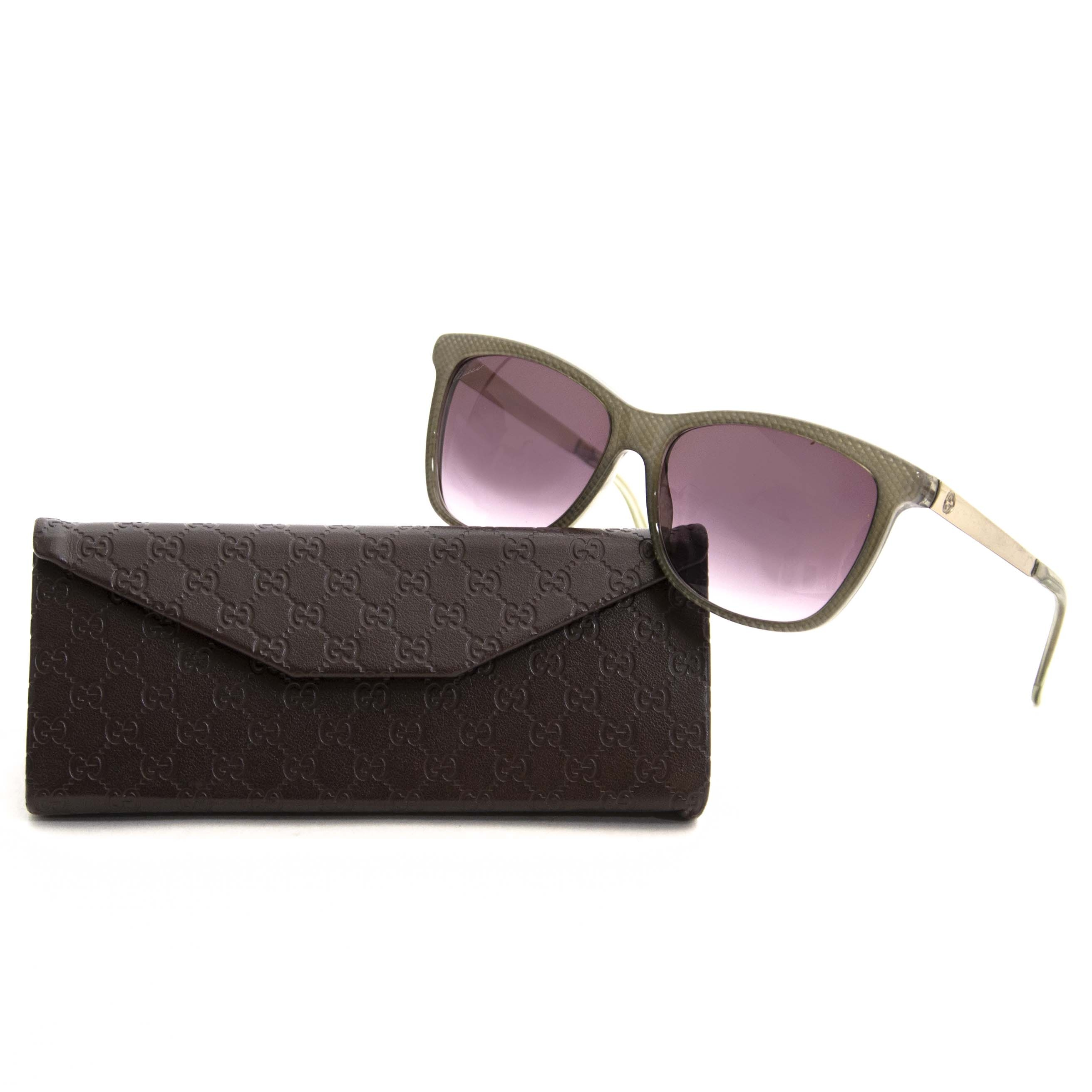 Gucci Grey Cat Eye Sunglasses