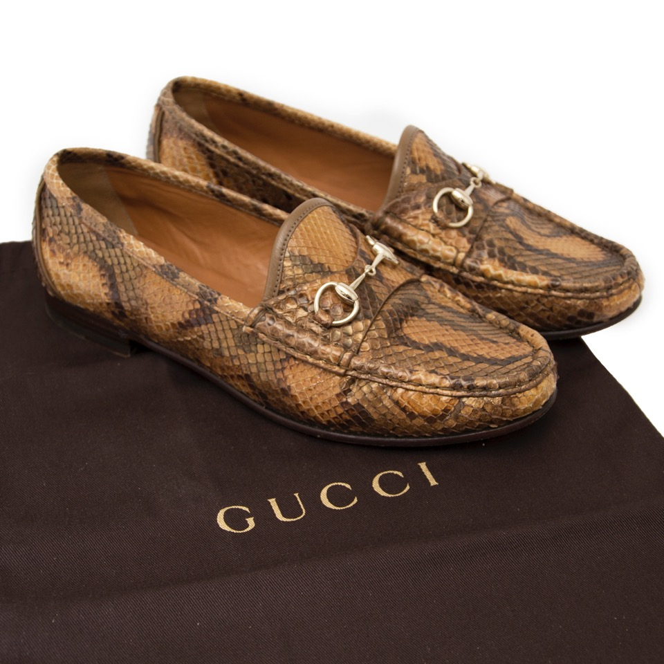 shop safe online at the beste price like new Gucci Python Horsebit Loafers