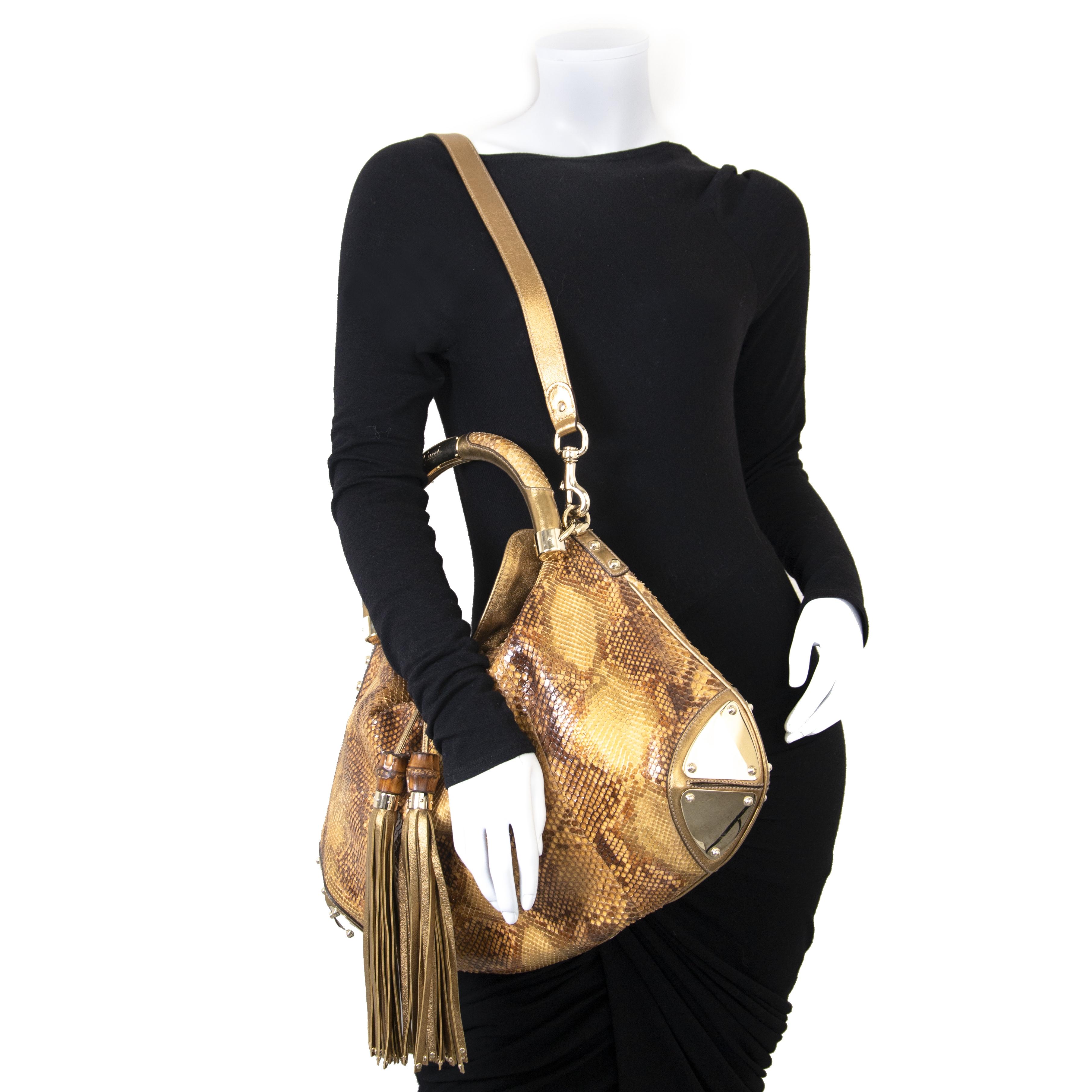 Gucci Python Babouska Indy Top handle sac en ligne chez labellov.com pour le meilleur prix