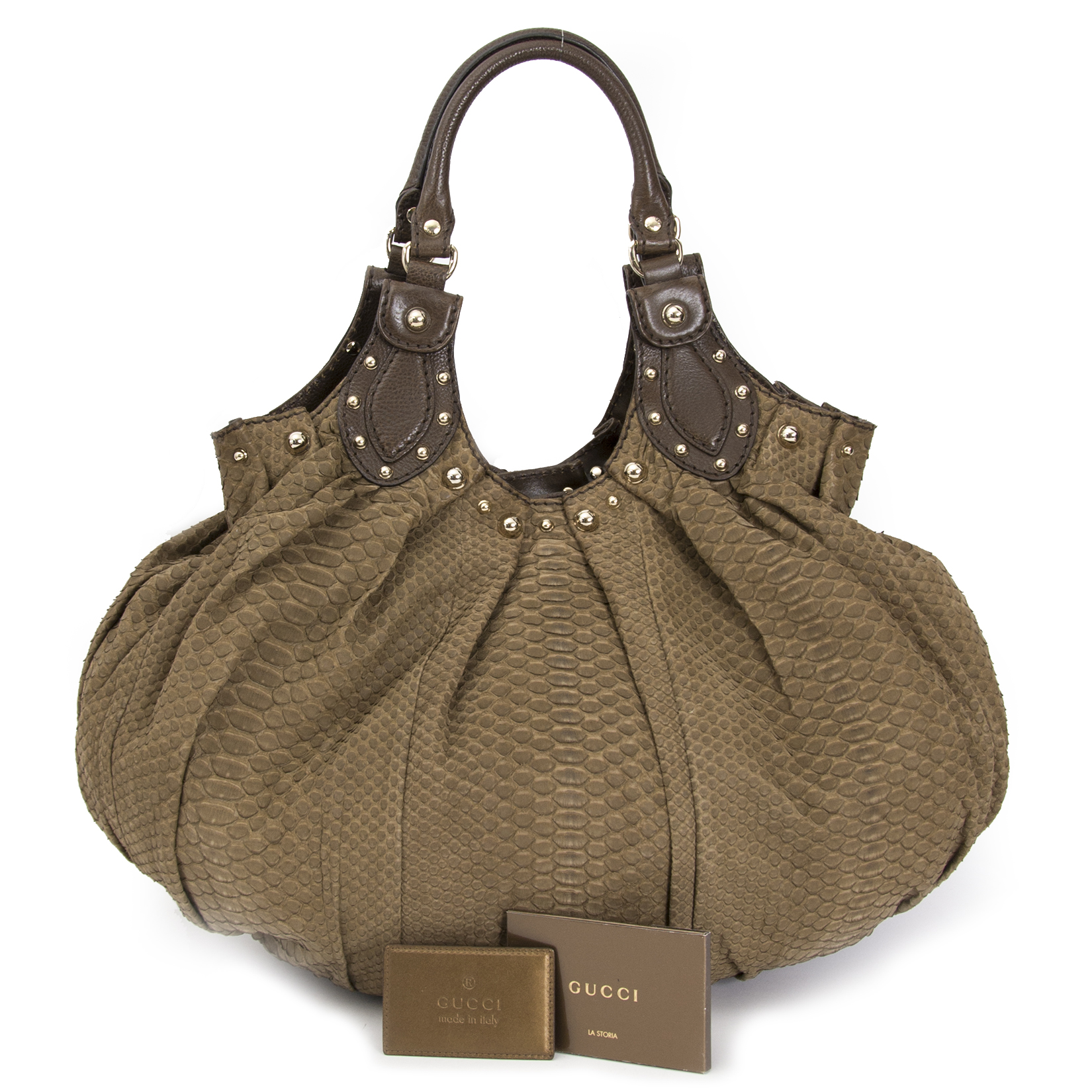 looking for the perfecgt christmas gift Gucci Taupe Python Hobo Bag