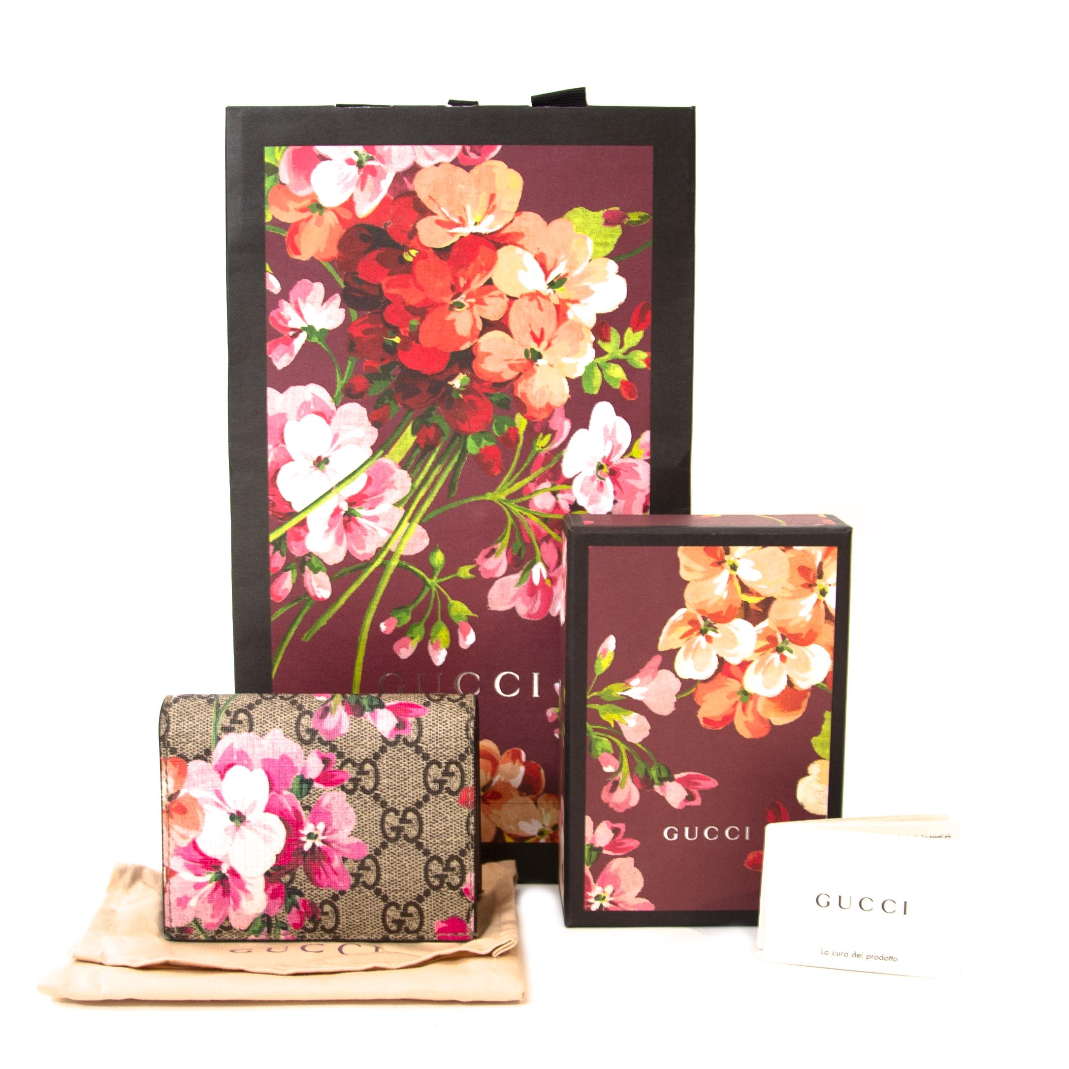 Gucci Supreme Monogram GG Blooms Print Card Case