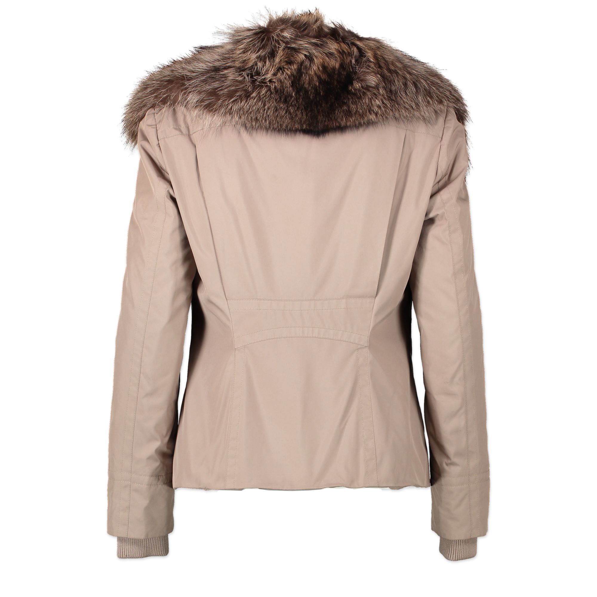 Gucci Beige Fur Collar Jacket - te koop bij Labellov