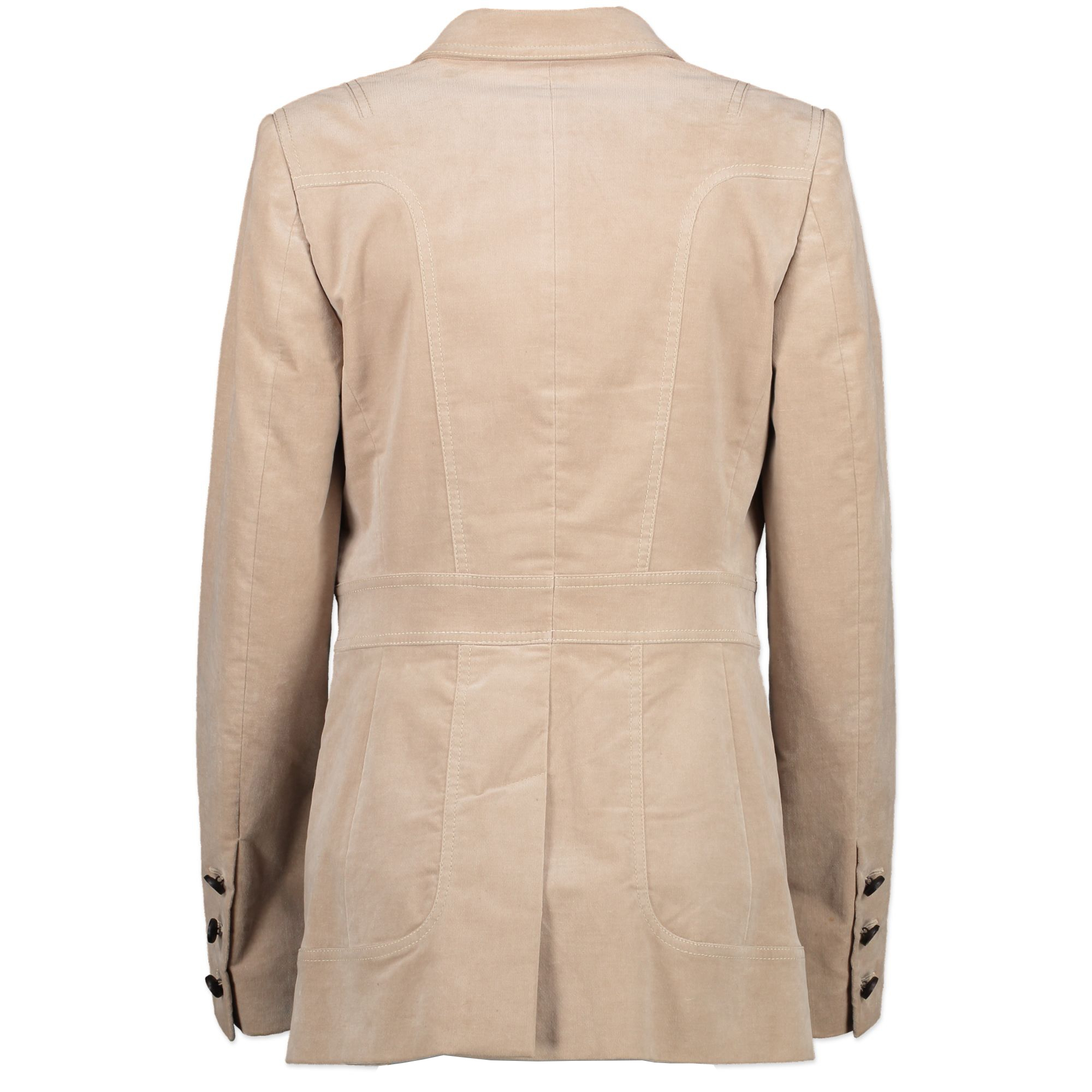 Gucci Beige Velvet Blazer - IT Size 42