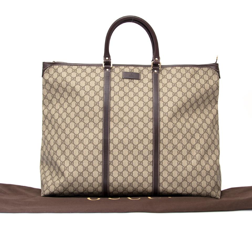 shop safe online at the best price Gucci monogram week-end bag like new webshop www.labellov.com