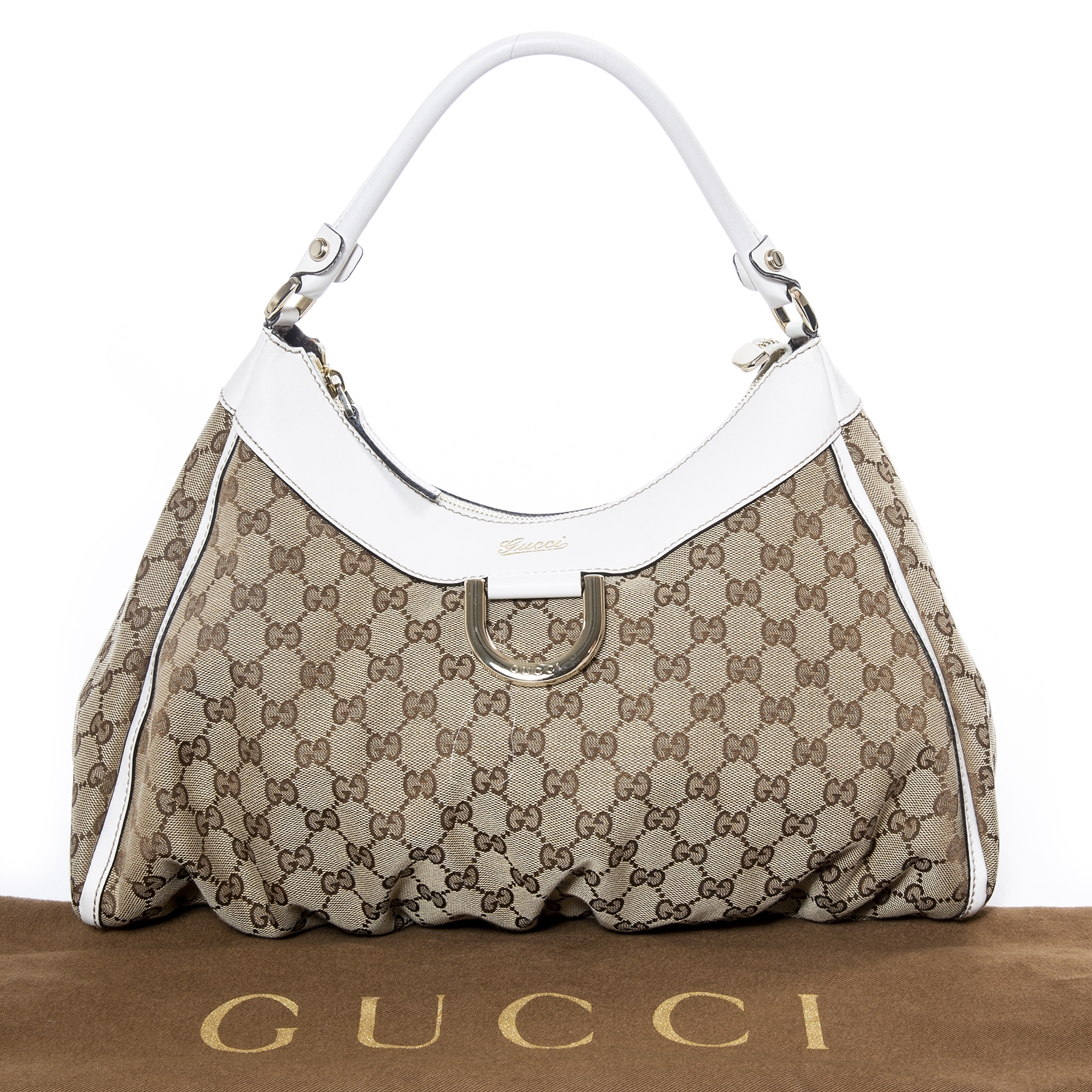 ... gucci d ring hobo bag now for sale at labellov vintage fashion webshop  belgium 2f81469b5828