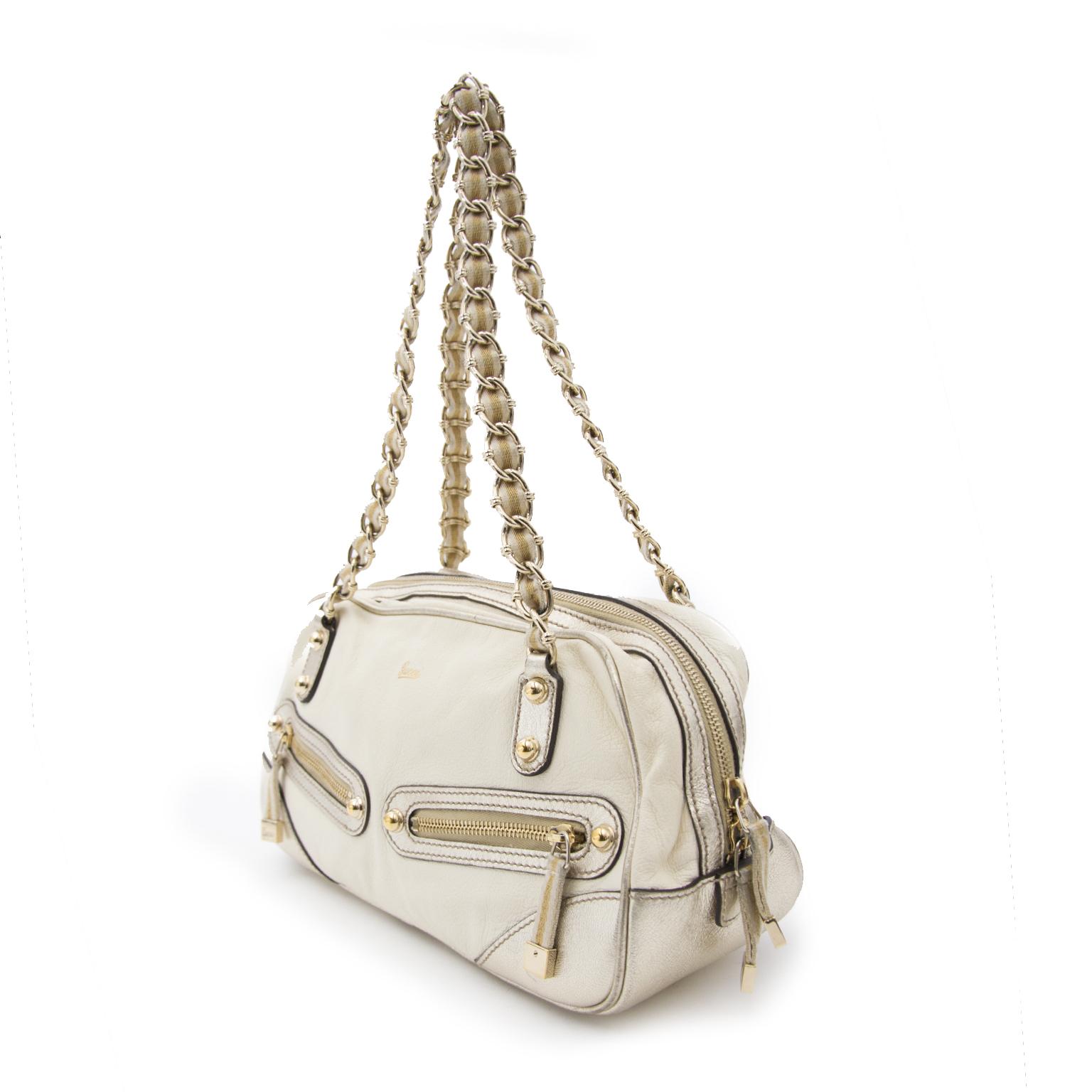 acheter enligne Gucci Gold Cream sac a main
