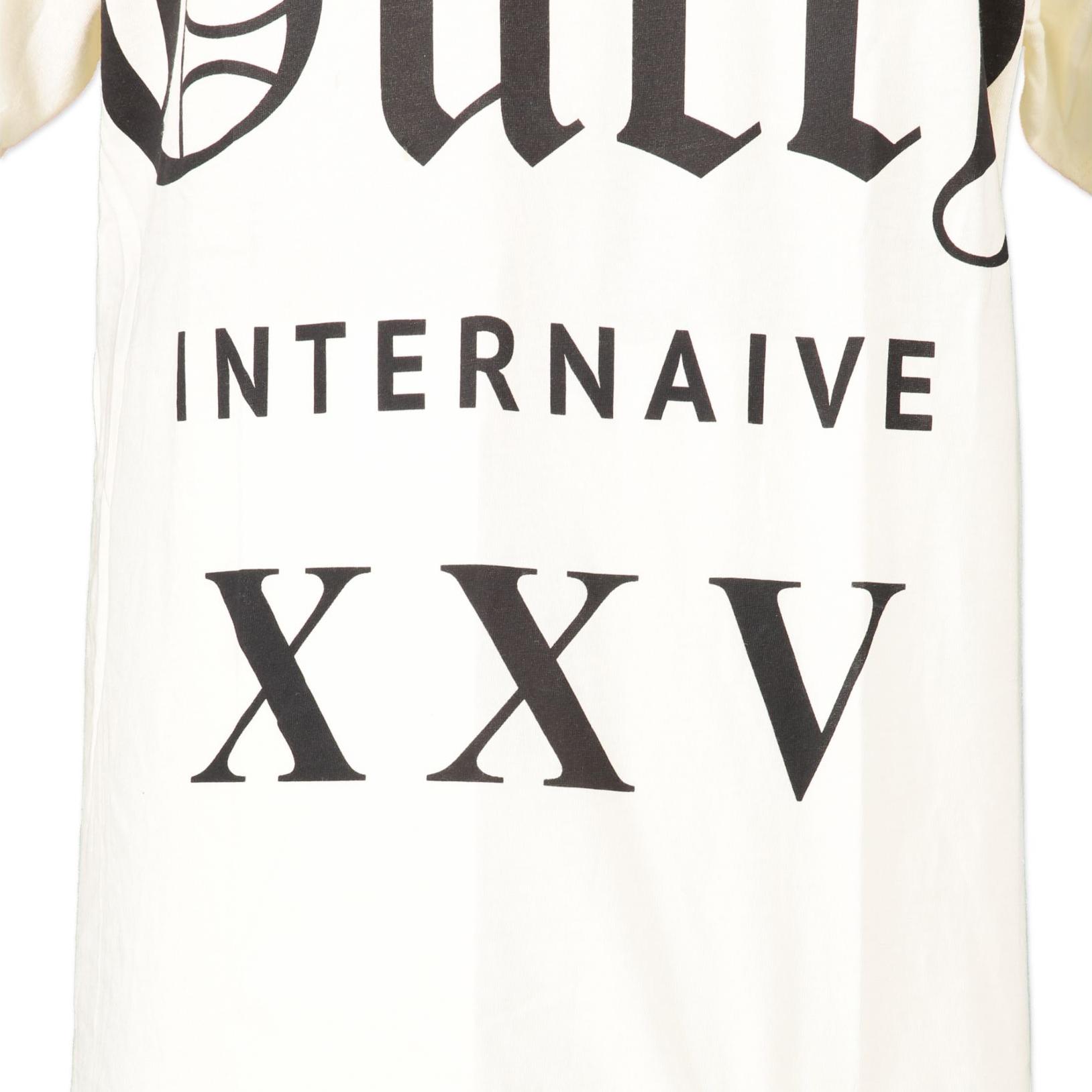 Gucci White Jersey Internaive XXV T-Shirt - size XS