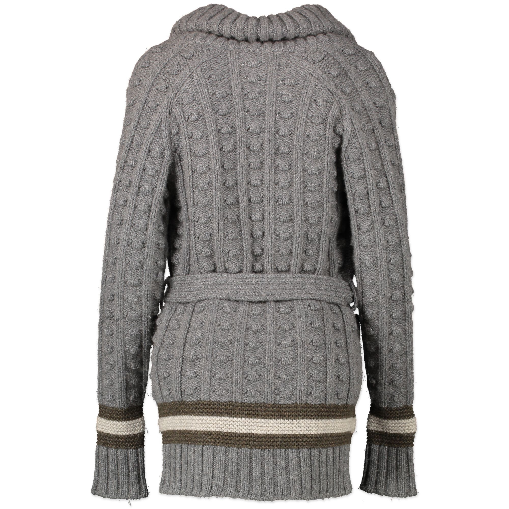 Gucci Grey Cashmere Cardigan With Belt - Size XS