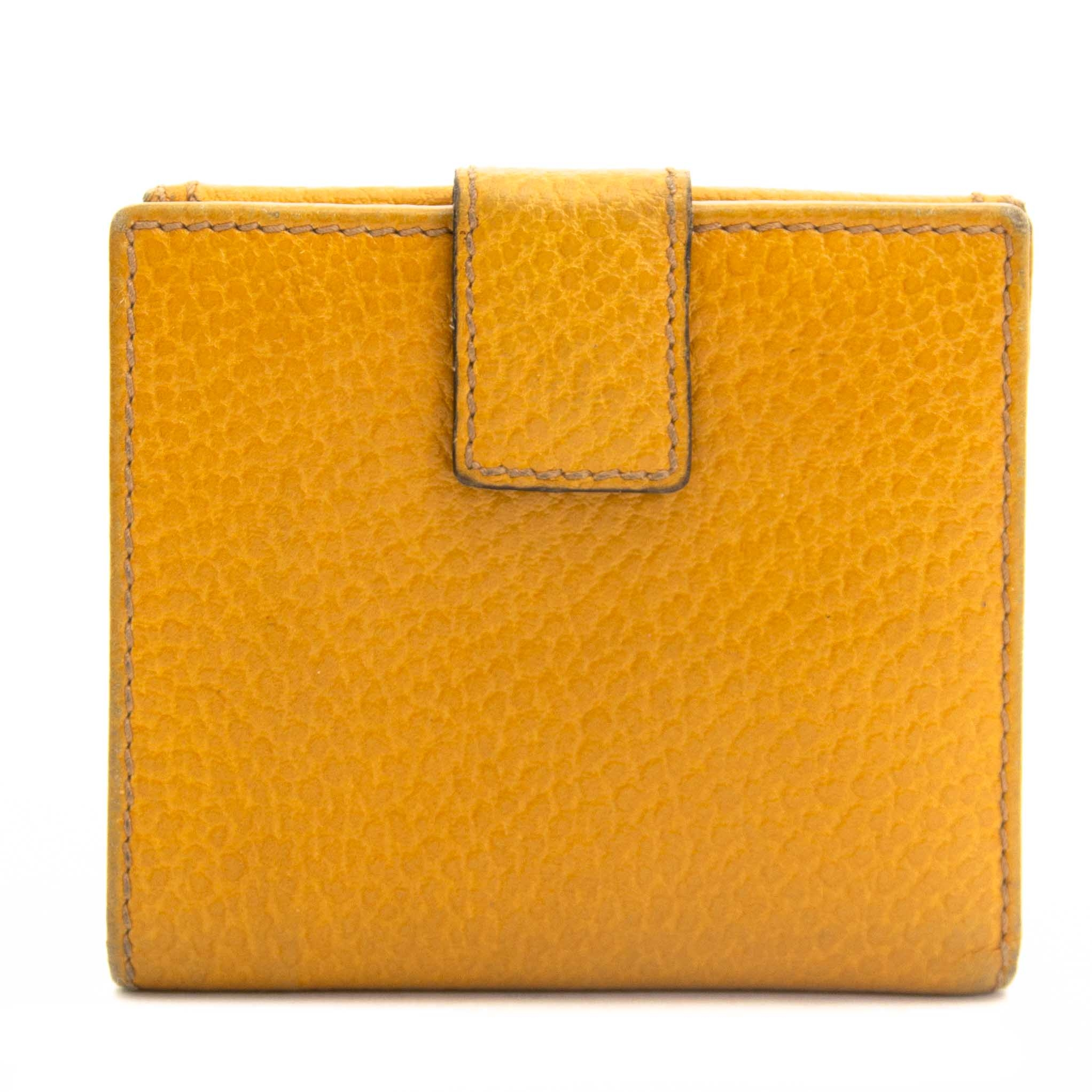 Gucci Yellow Bamboo Wallet now for sale at labellov vintage webshop for the lowest price