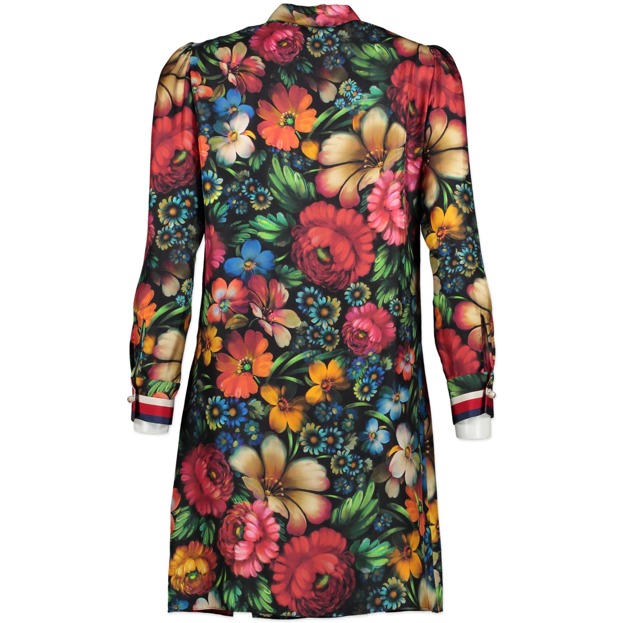 Gucci Floral Silk Shirt Dress - size IT40 for the best price available online at Labellov secondhand luxury