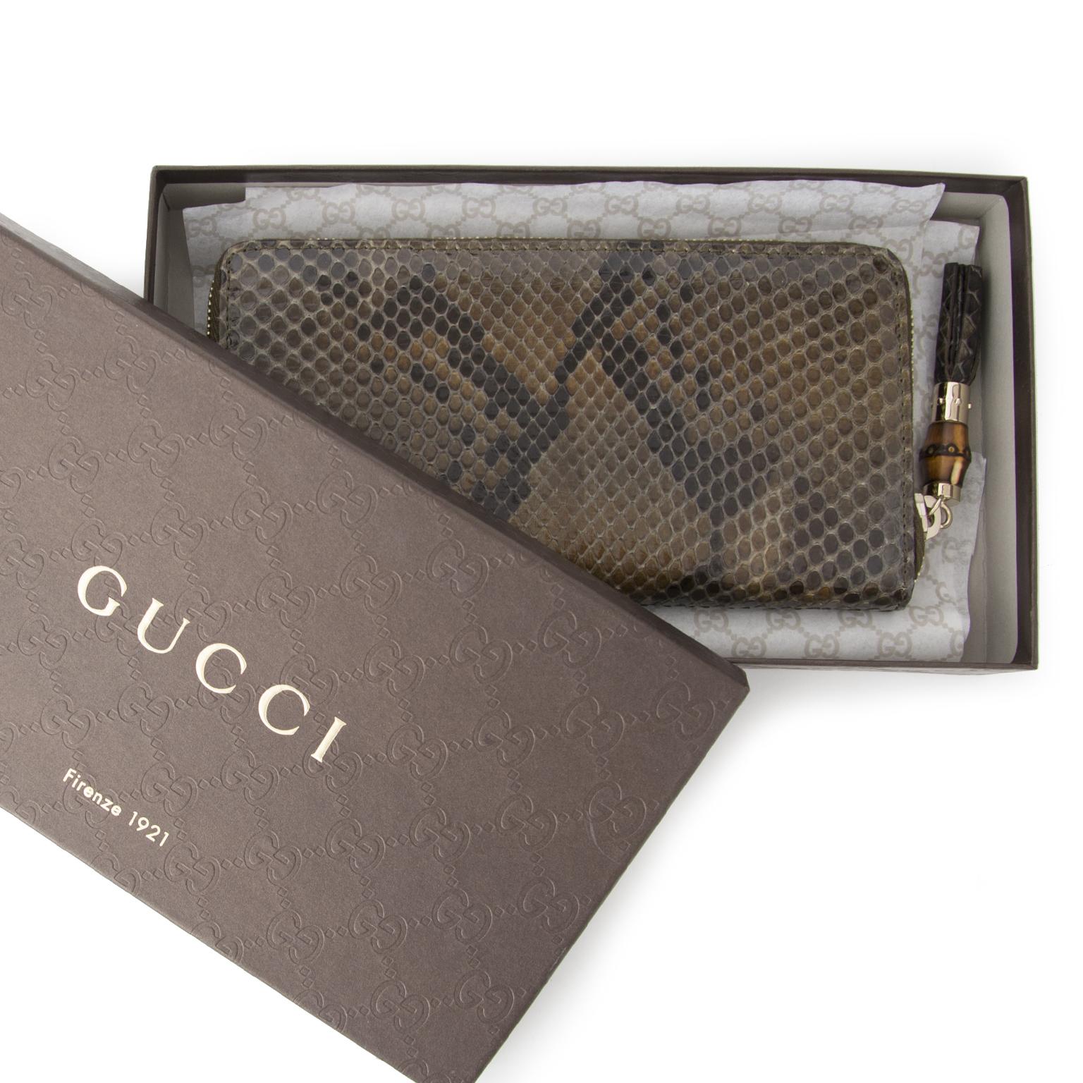 6e10ac92c4e Veilig online winkelen Acheter Gucci portefeuille serpent en ligne au  LabelLOV. De façon sécurisée. Vintage