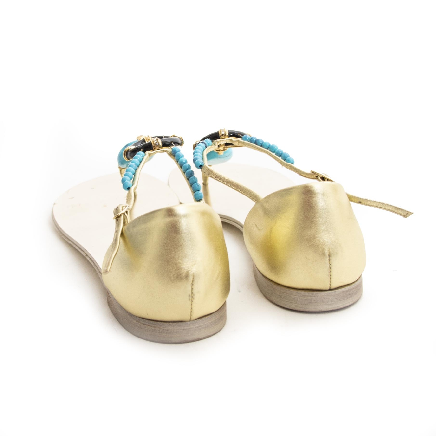 Giuseppe Zanotti Gold Sandals - 38 For the best price at LabelLov. Pour le meilleur prix à LabelLOV. Voor de beste prijs bij LabelLOV.