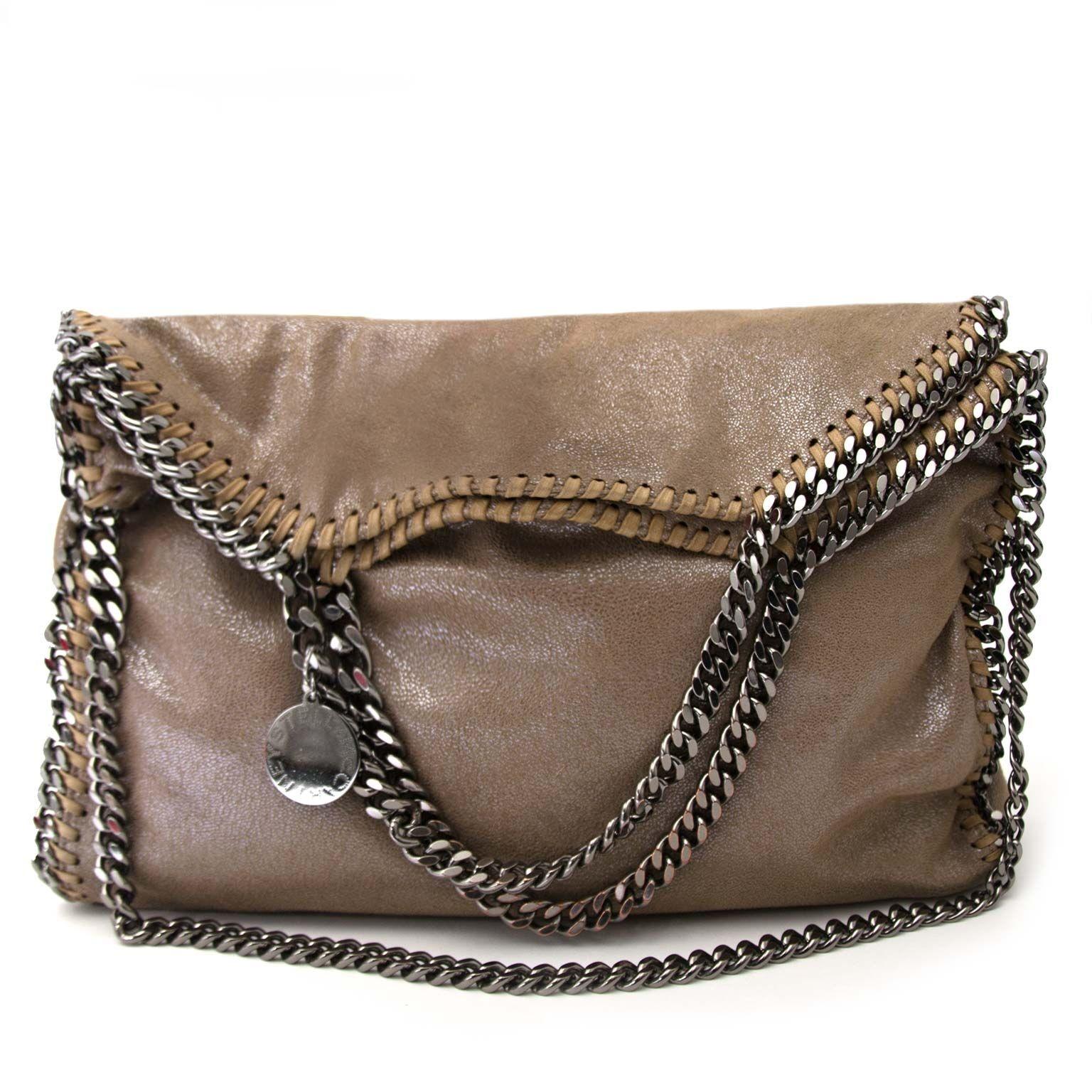 153692d71cfe ... buy Stella McCartney Beige Falabella Fold Over Tote at labellov