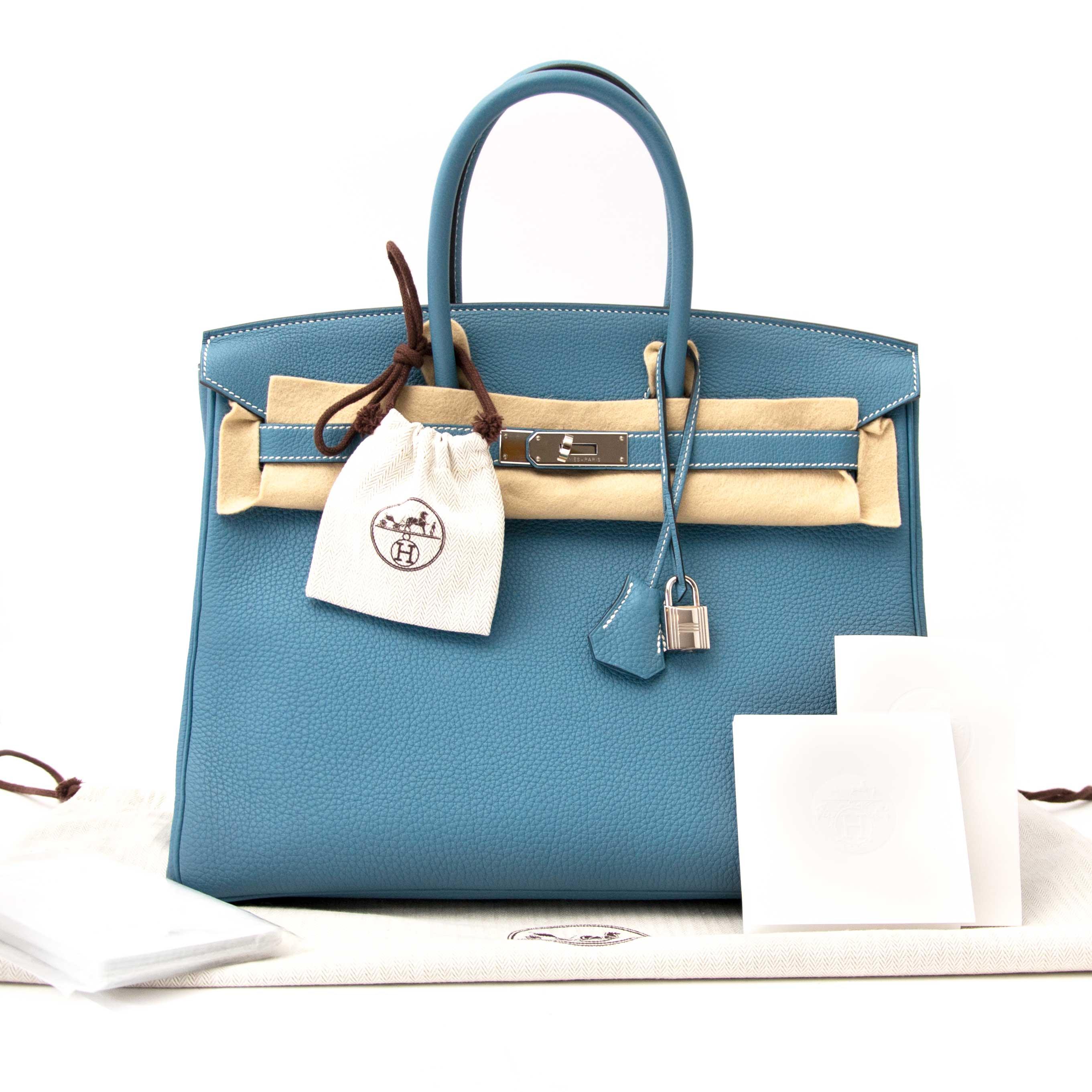 c1b5f66aa07e ... achter enligne pour le meimmeur prix 1000% As New Hermes Birkin Blue  Jeans Togo 35