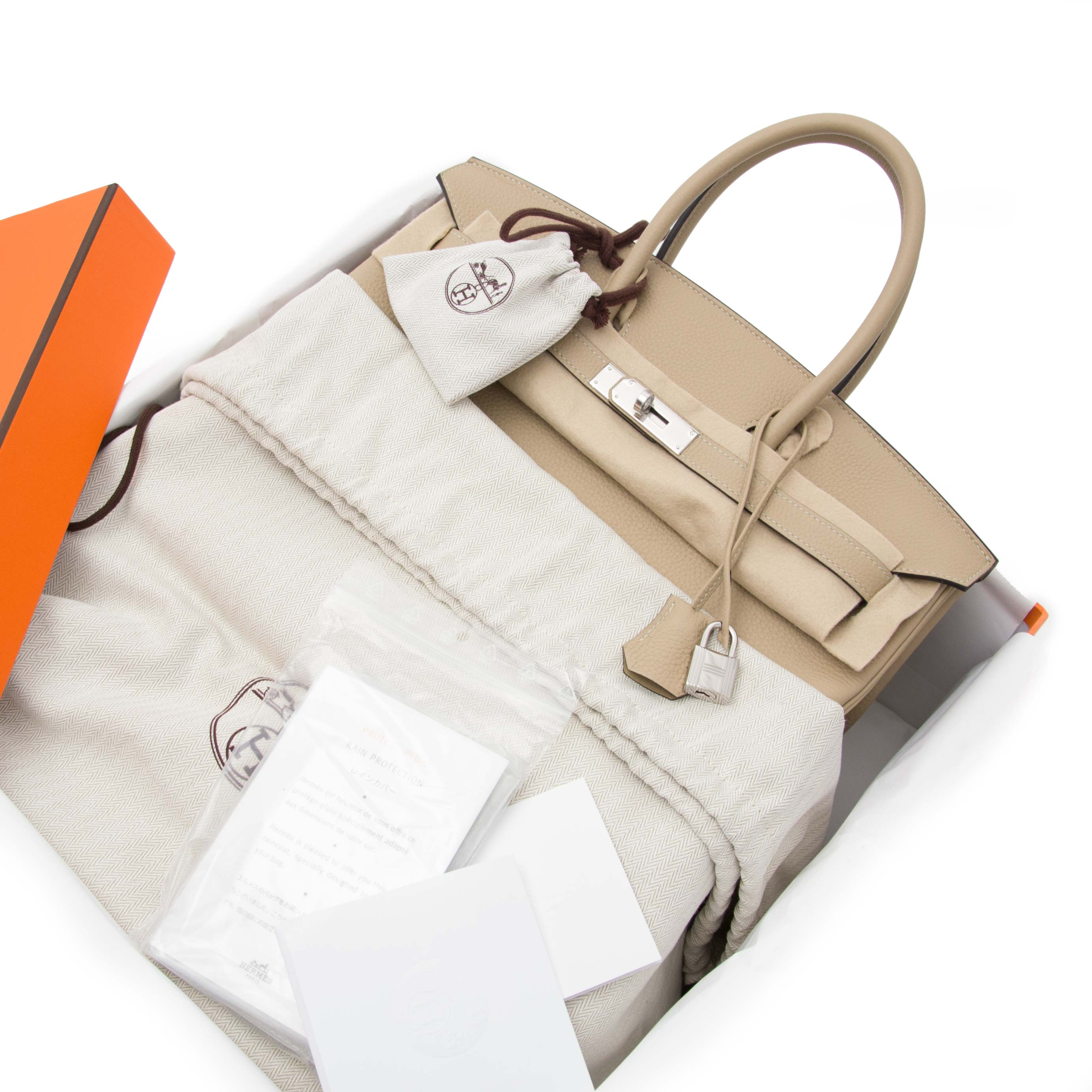 buy safe and secure online at labellov.com 100% authentic Hermes birkin 35 togo trench