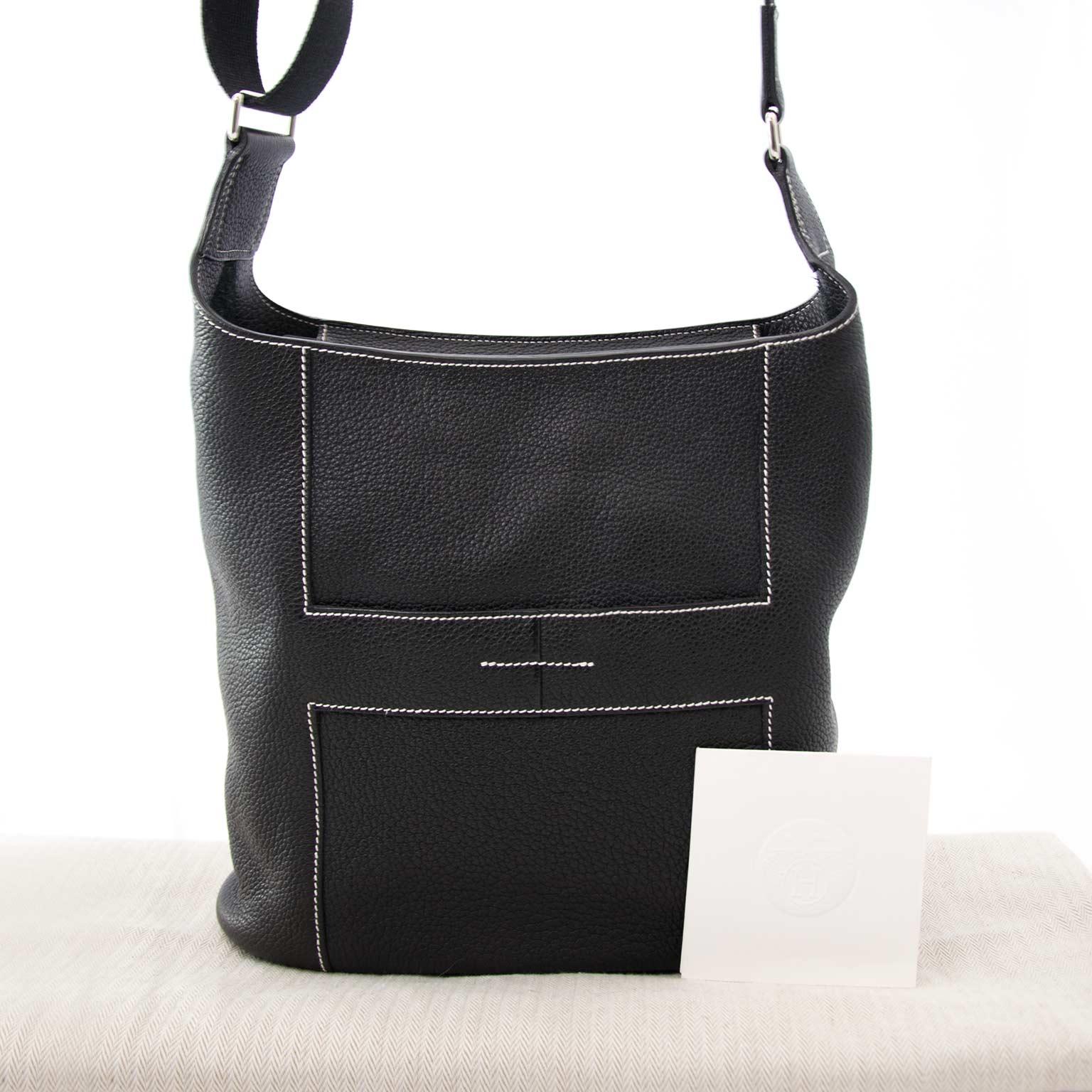 30a3c8a2e4b6 ... Hermès Black Goodnews Bag for sale online at Labellov.