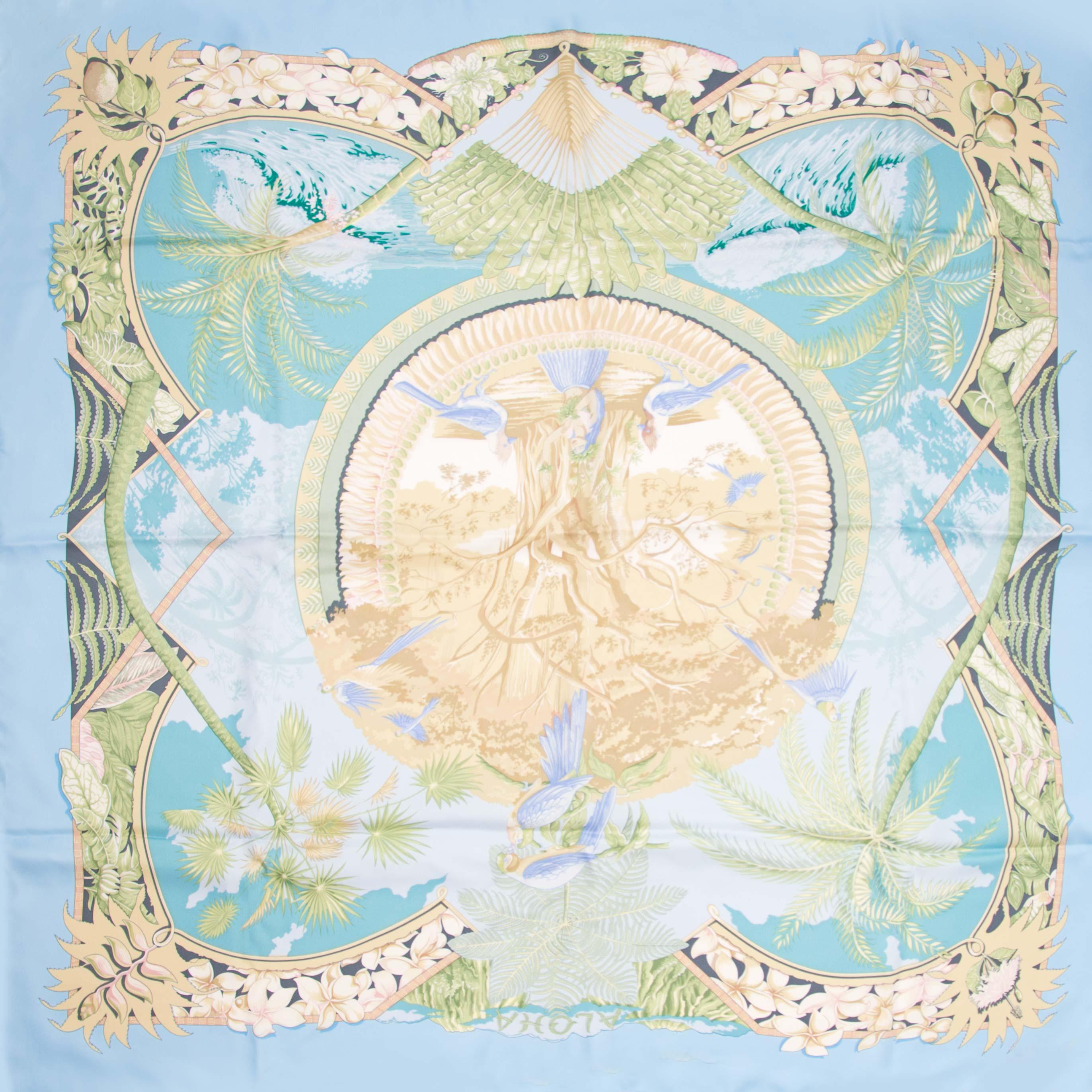Hermès carré Aloha zijden sjaal nu online bij labellov.com tegen de beste prijs