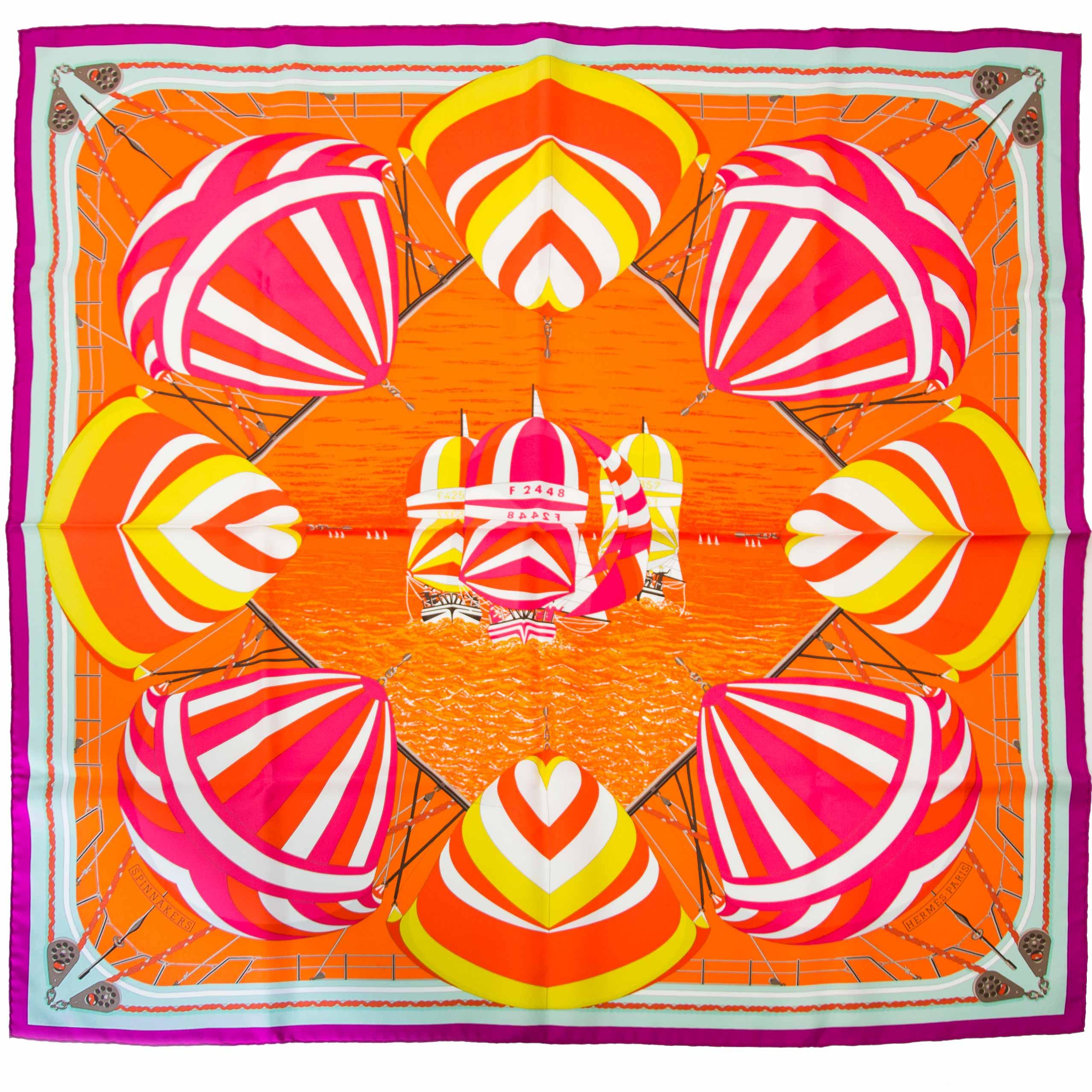 Hermes carré Spinnakkers acheter en ligne secondemain Hermes carré