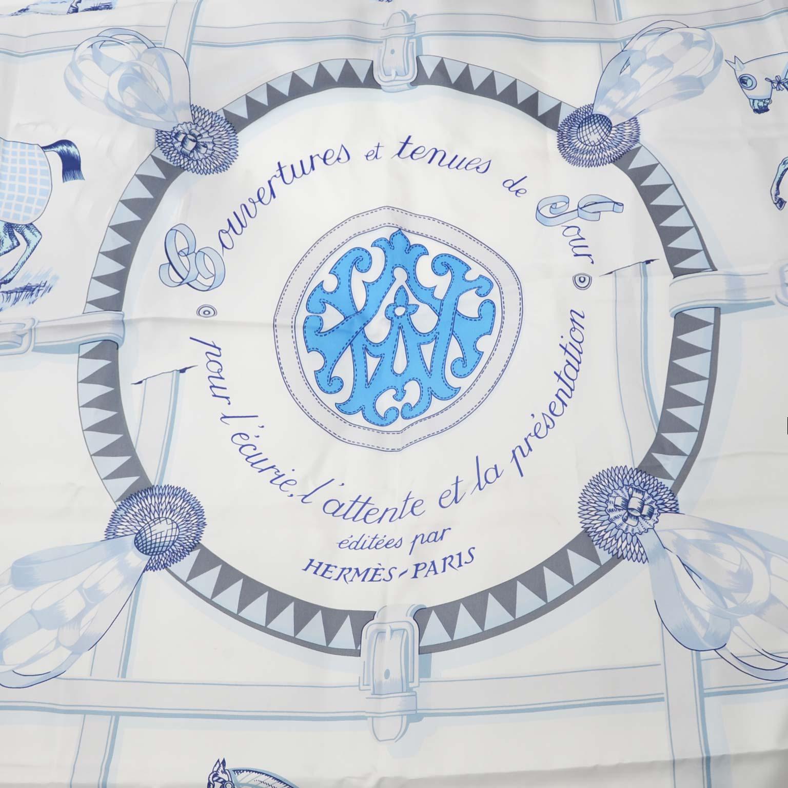 Hermes Carré 'De Soie Couvertures et Tenues de Jour ' 140cm