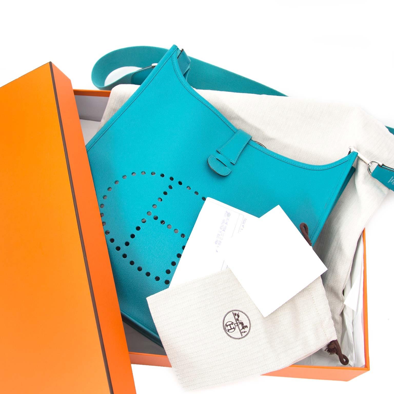 koop veiilg online tegen de beste prijs Hermes Evelyne Veau Epsom Bag