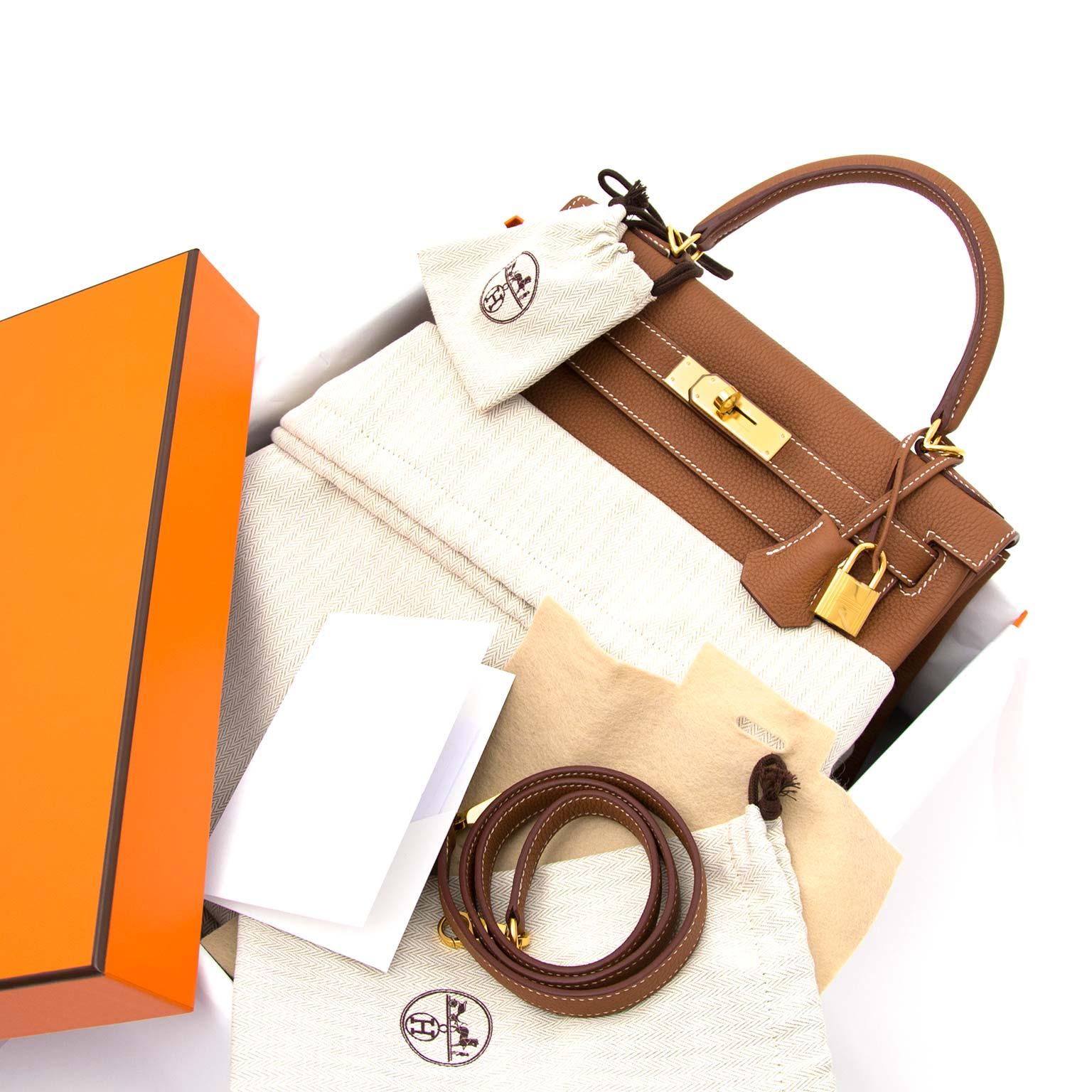buy safe and secure online at labellov.com hermes kelly 28 togo gold ghw