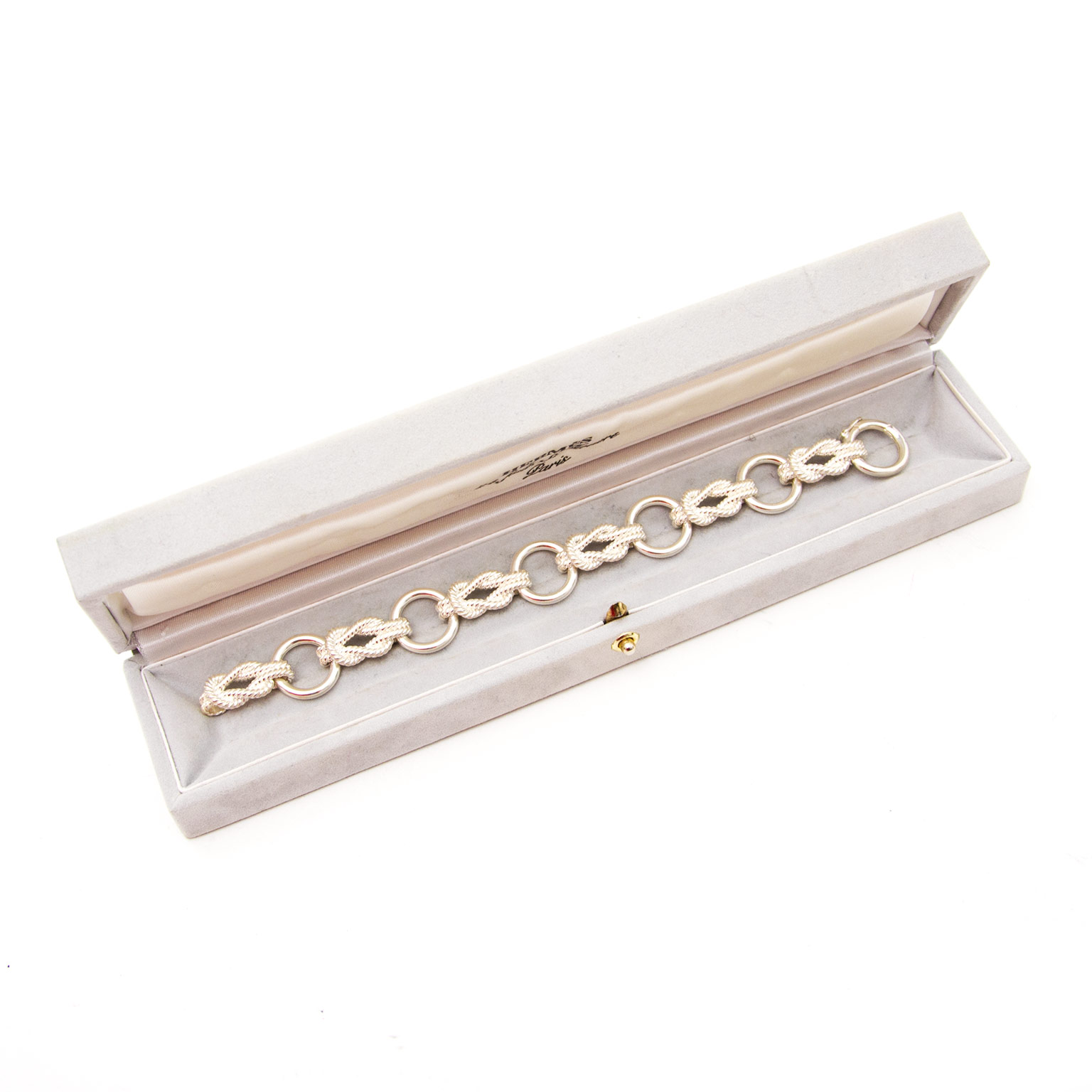 koop veilig online aan de beste prijs jou tweedehands Hermes Silver Sailor Knot Bracelet