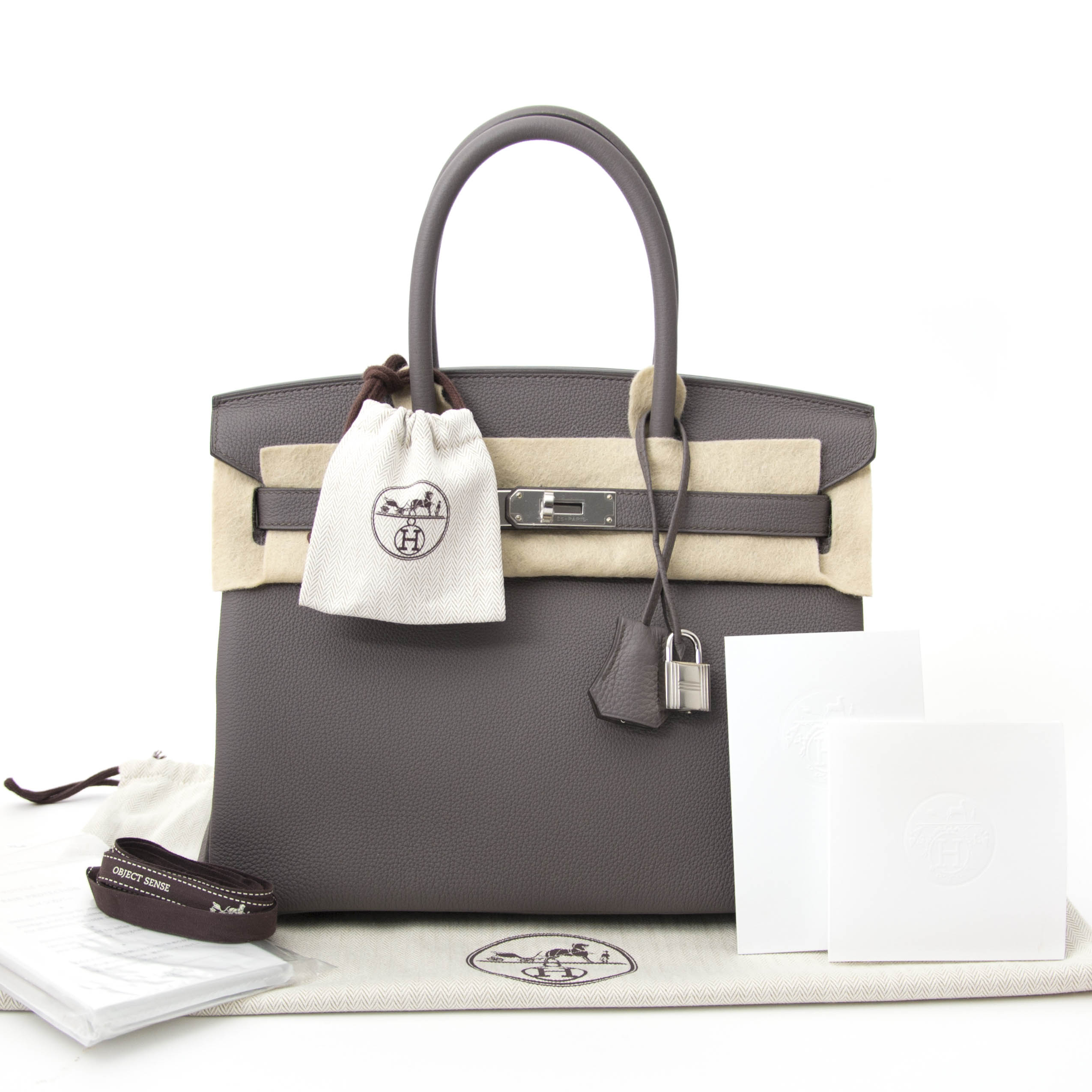 Are you looking for an authentic Hermes Birkin 30 Etain Togo PHW?