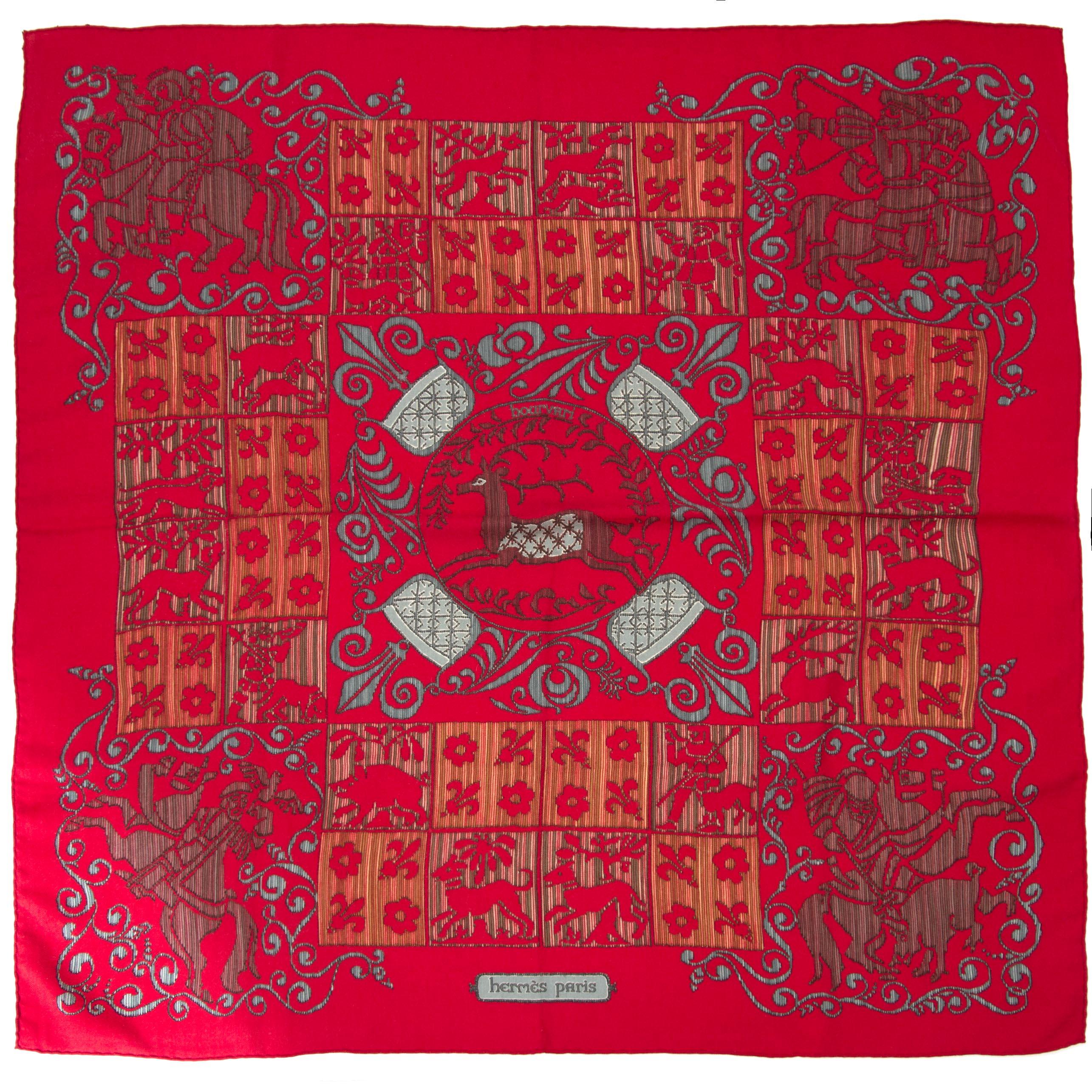 Authentieke tweedehands sjaal Hermes