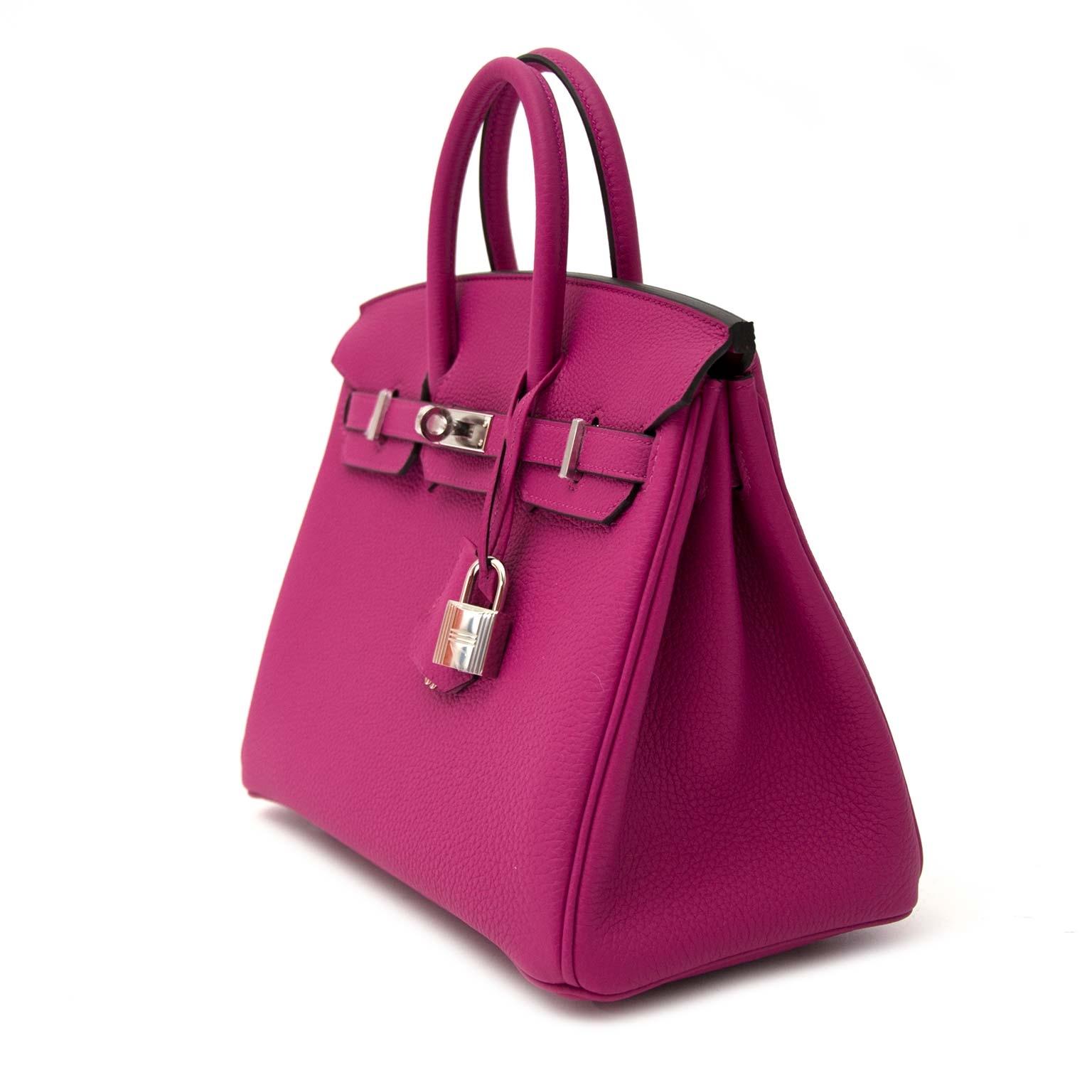 acheter en ligne pour le meilleur prix * Never Used *  Hermès Birkin 25 Rose Pourpre PHW
