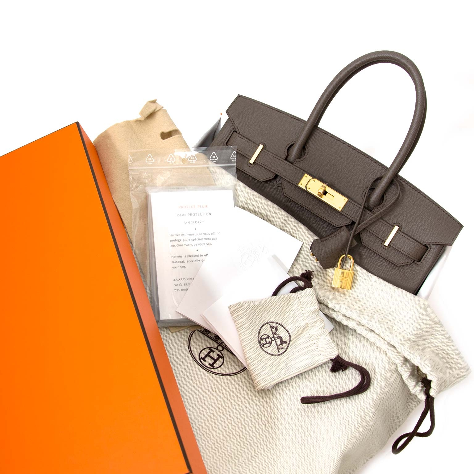 looking for a Hermès Birkin 30 Epsom Gris Etain GHW? Buy all your hermes birkin and kelly bags online