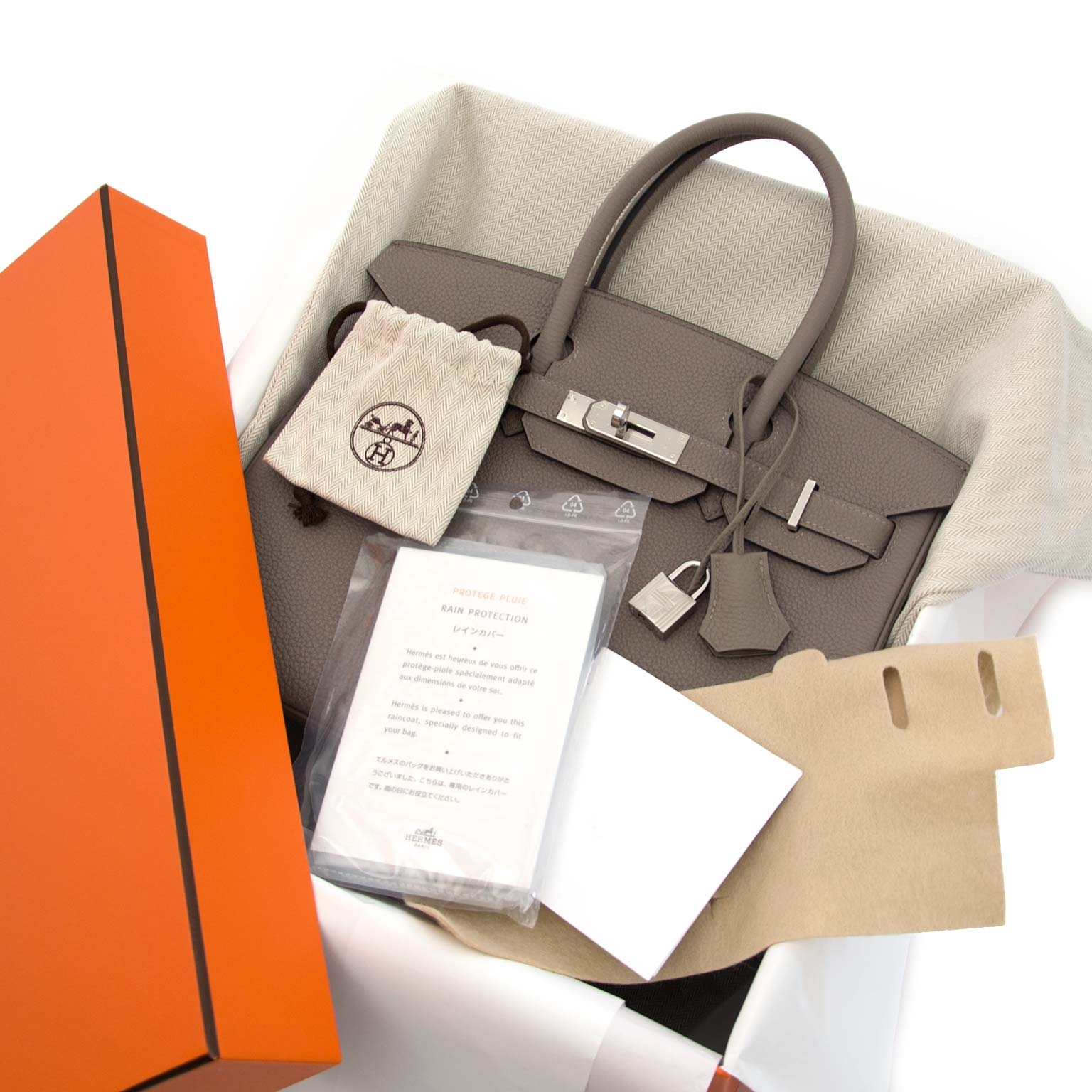 acheter en ligne chez labellov.com Hermès Birkin 30 Togo Gris Asphalte phw