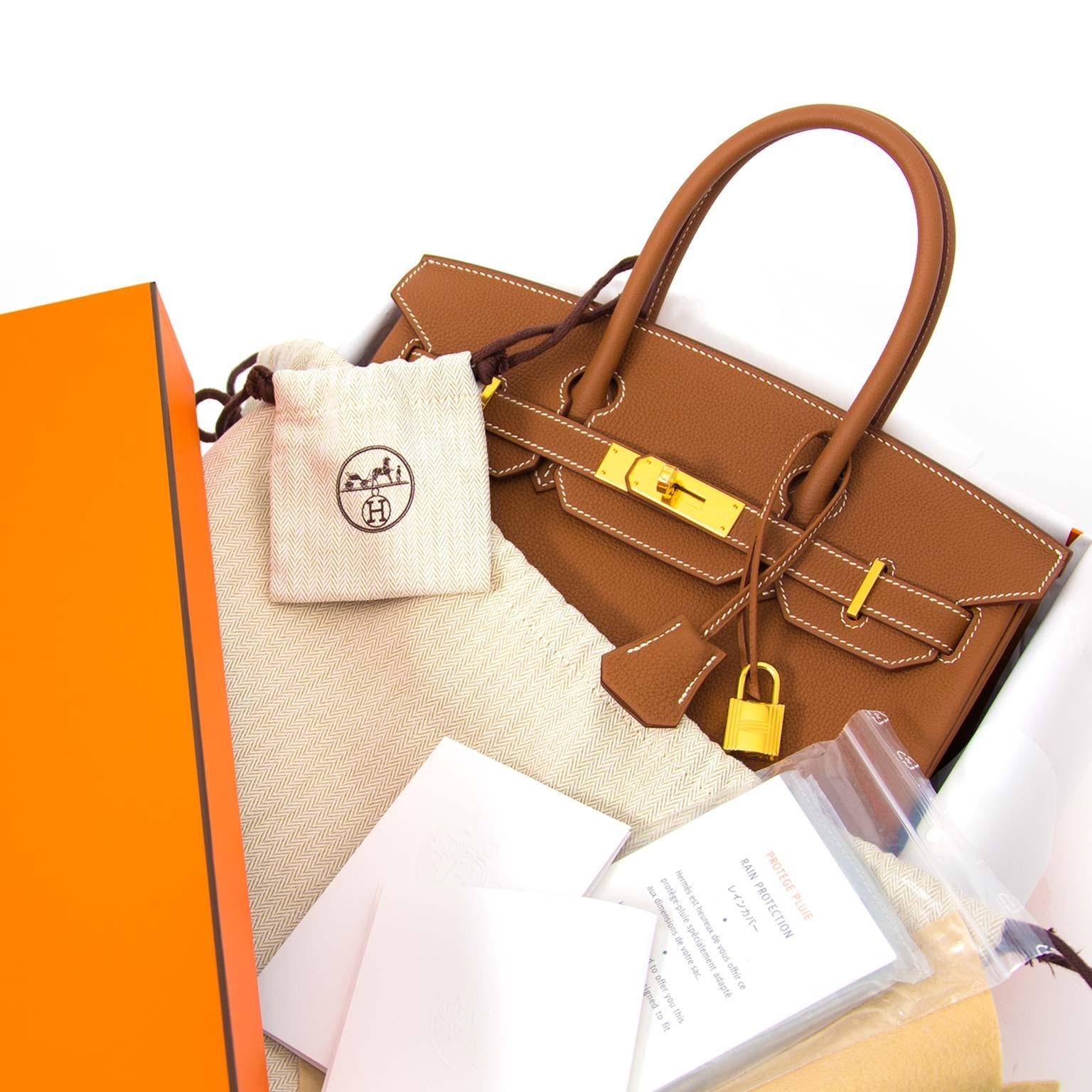 *Never Used* Hermès Birkin 30 Togo Gold GHW online tegen de beste prijs
