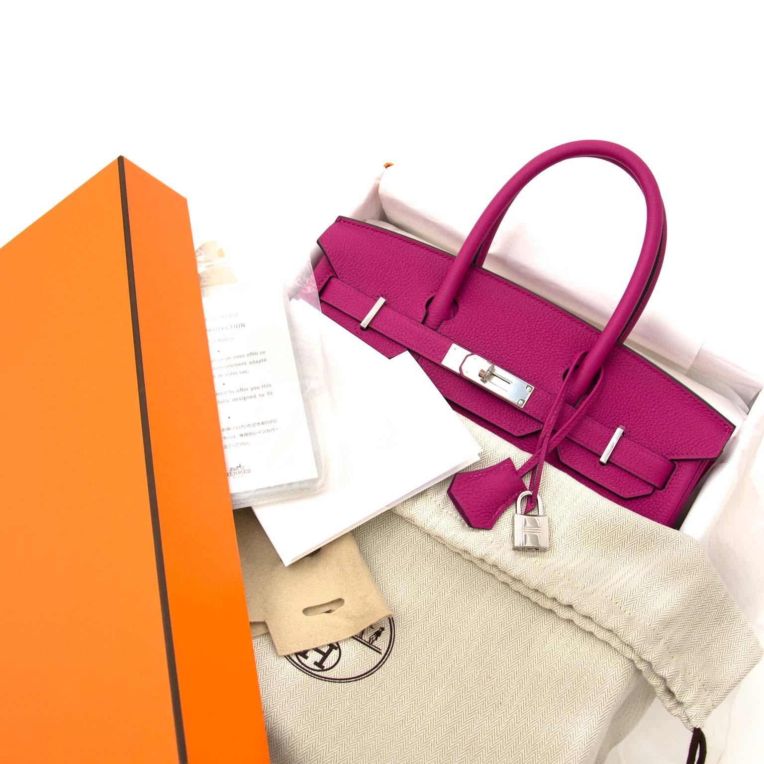 acheter en ligne chez labellov.com Hermès Birkin 30 Togo Pourpre PHW