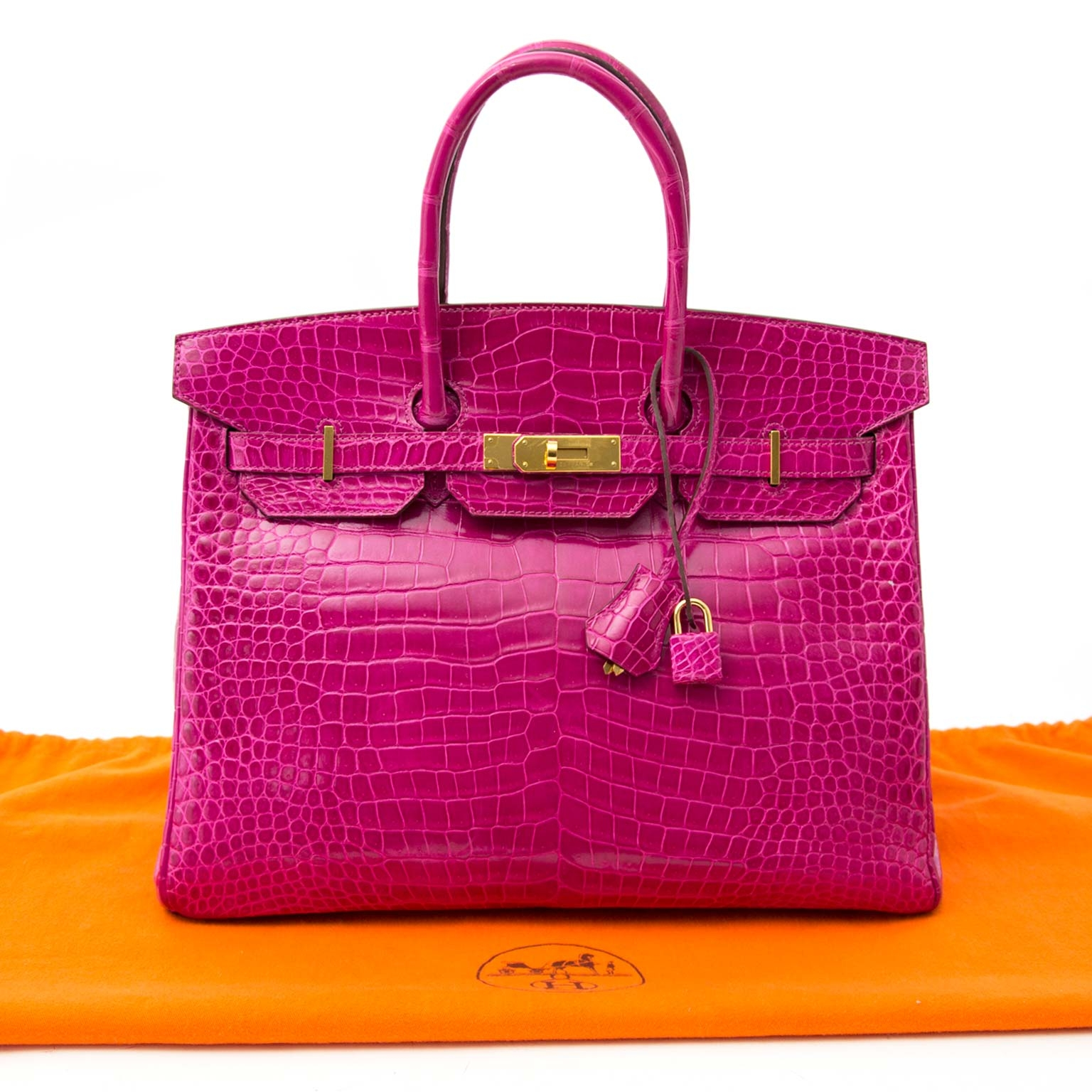 buy safe and secure online at labellov.com Hermès Birkin 35 rose sheherazade porosus ghw