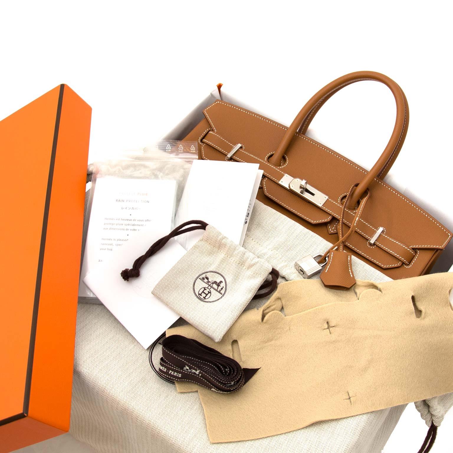 acheter en ligne chez labellov.com Hermès Birkin 35 Epsom Gold PHW