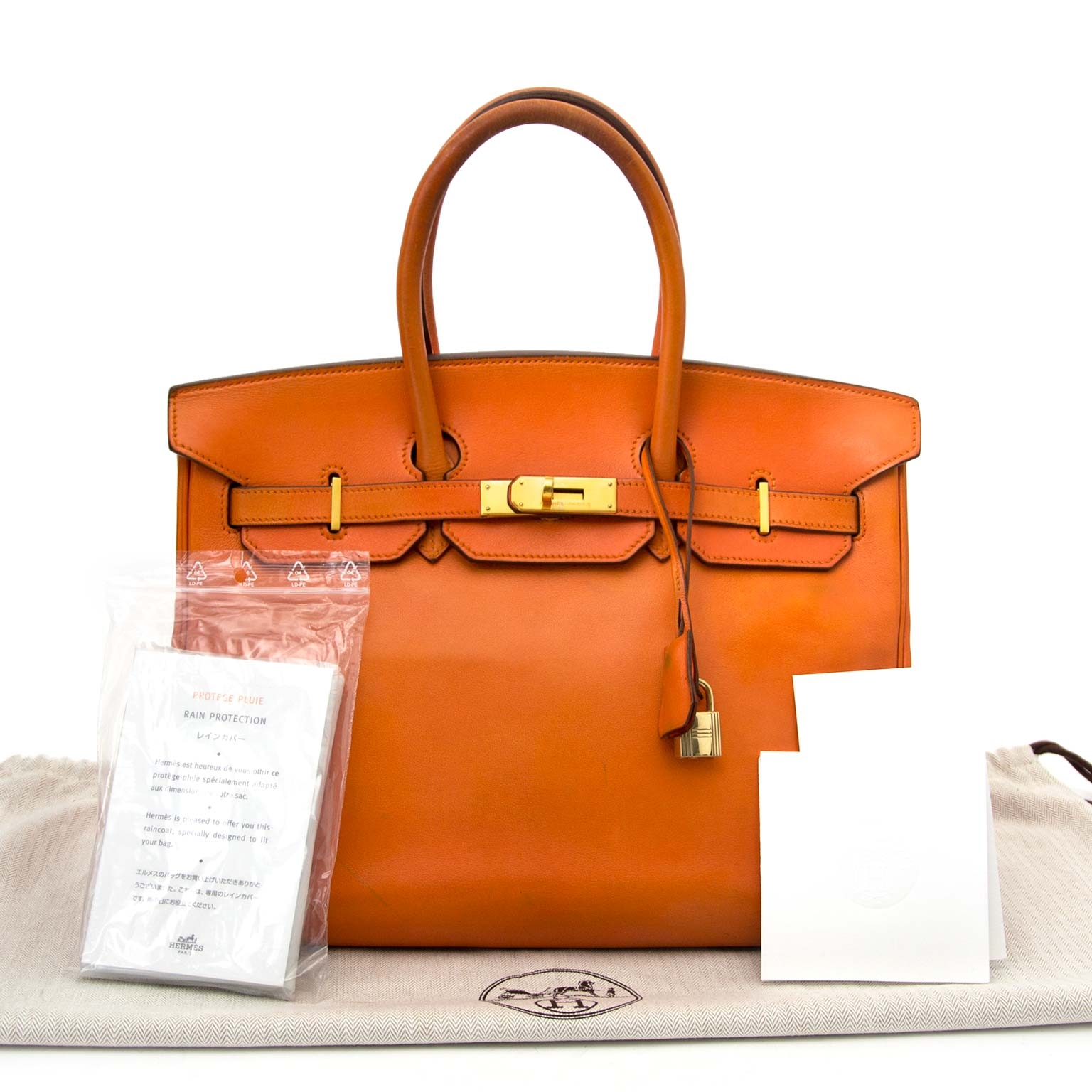 87dfa3fd6a12 ... skip the waitinglist and shop safe online your secondhand Hermes Swift  Birkin 35 Orange Hermes PHW