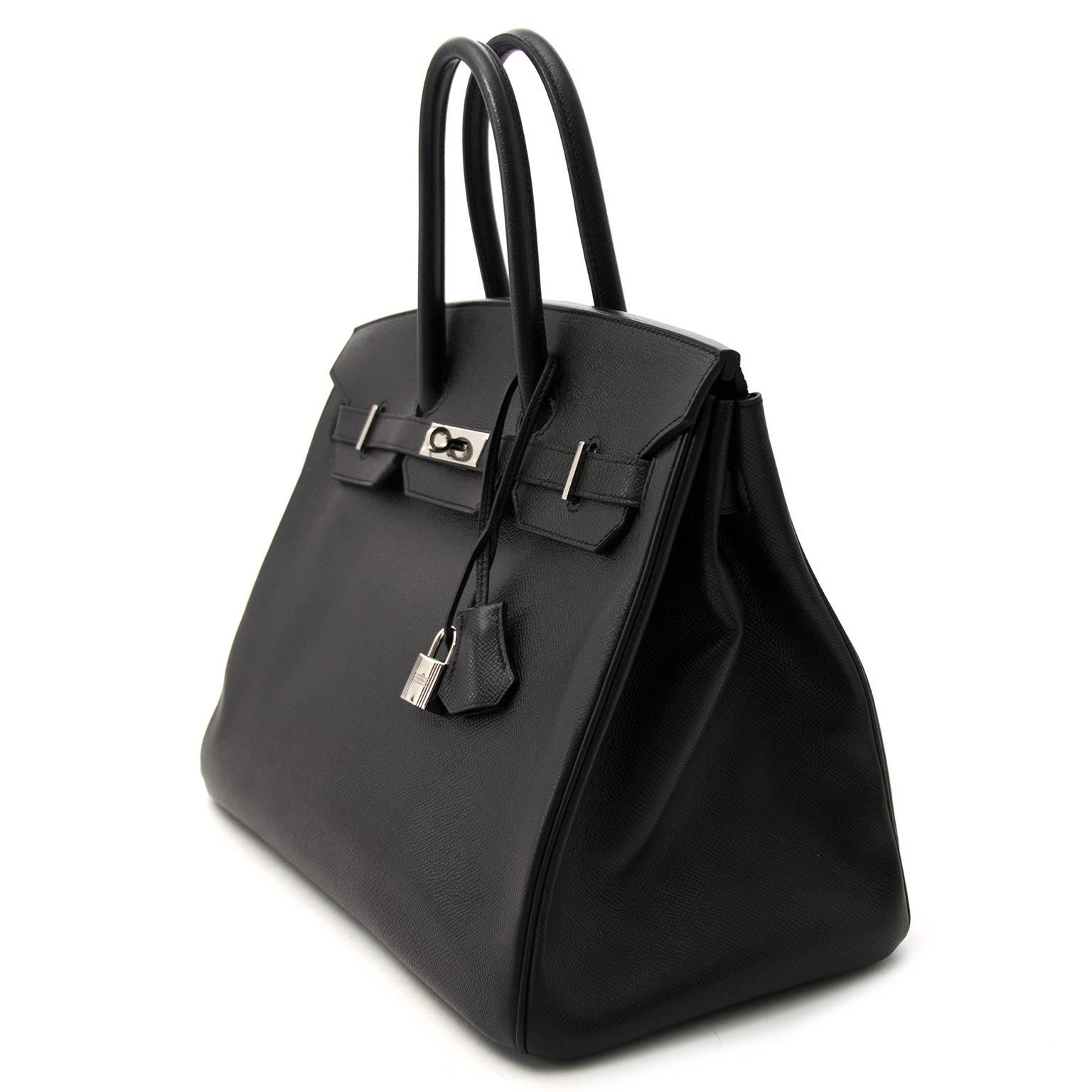 acheter en ligne pour le meilleur prix Hermès Birkin 35 black epsom PHW