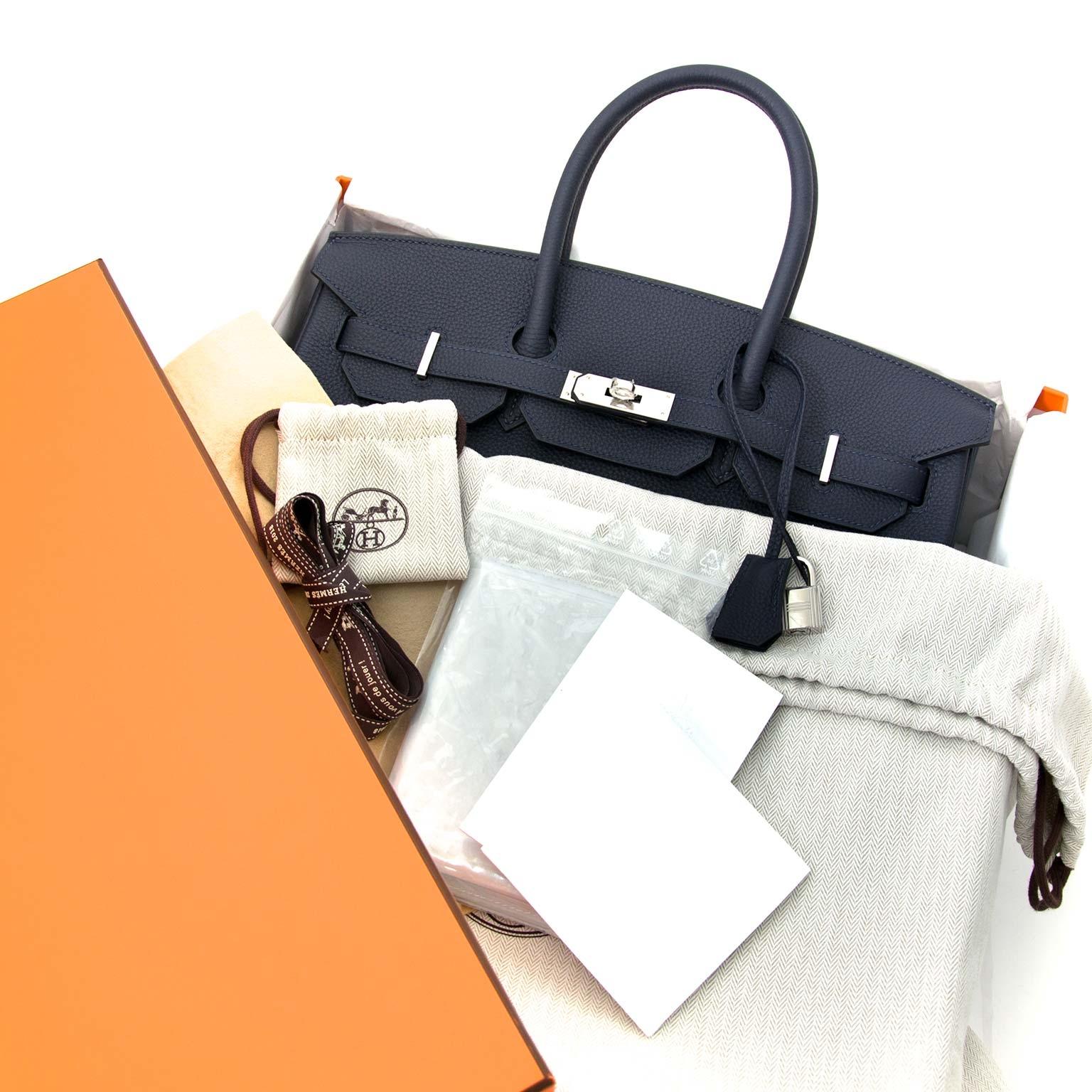 Hermès Birkin 35 Togo Bleu Nuit PHW available worldwide shipping