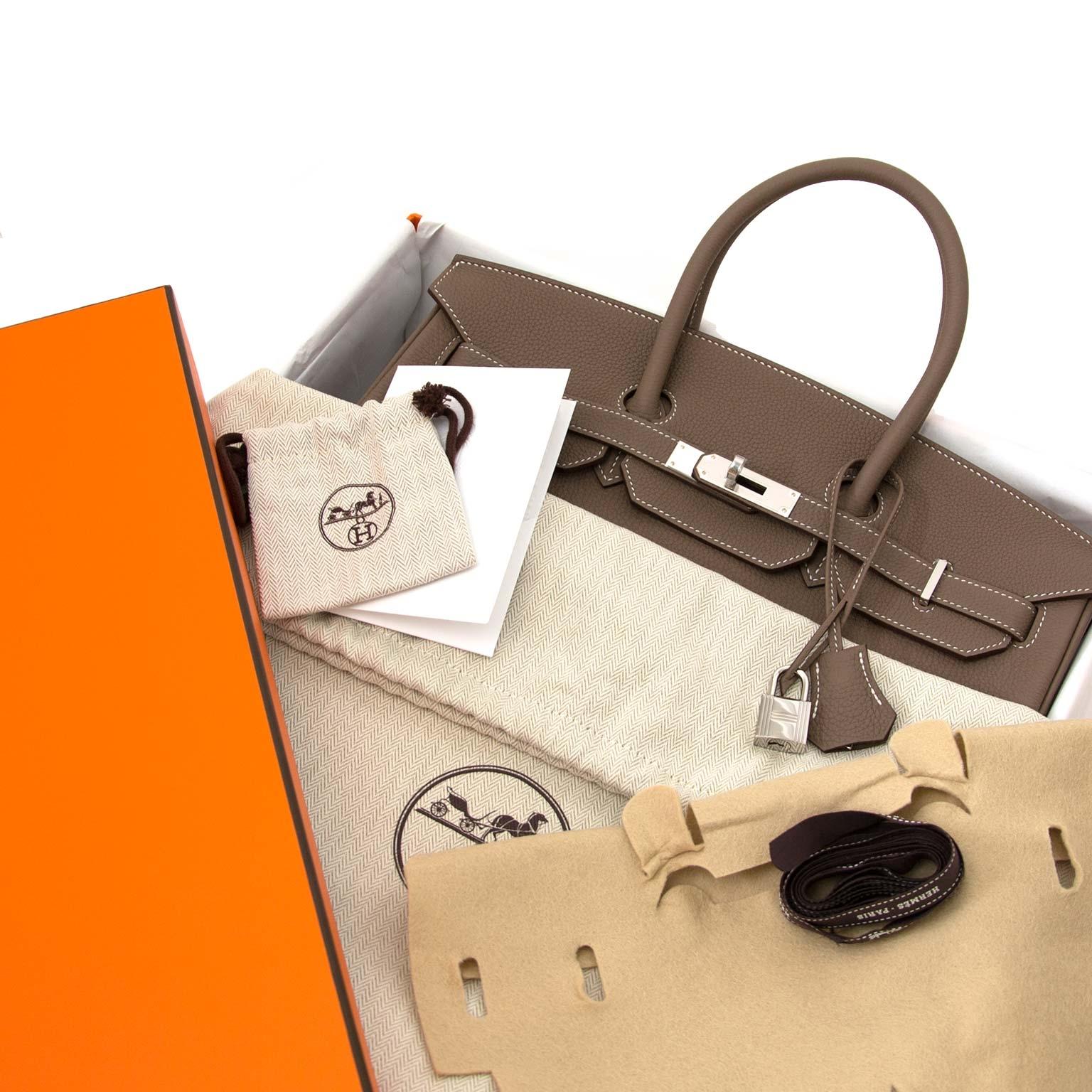 fb94714193 ... Labellov Hermès Birkin 35 Etoupe Togo PHW kopen en verkopen aan de  beste prijs