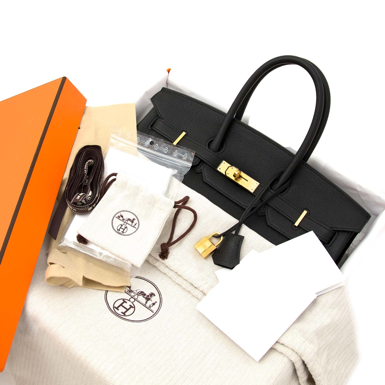 Buy and sell your authentic Hermès Birkin 35 Black Togo GHW