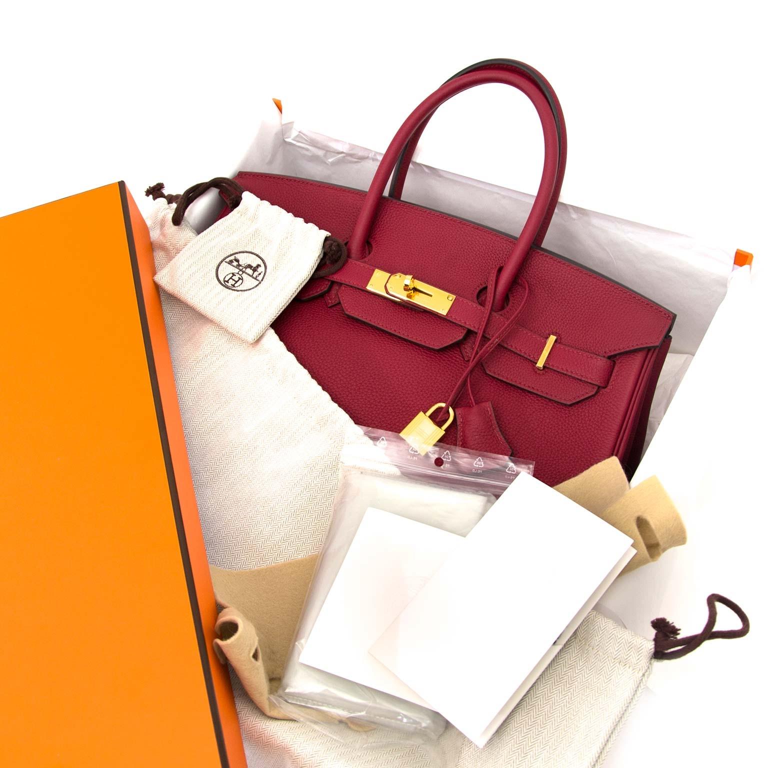 acheter en ligne chez labellov.com Hermès Birkin 35 Togo Rouge Grenat GHW