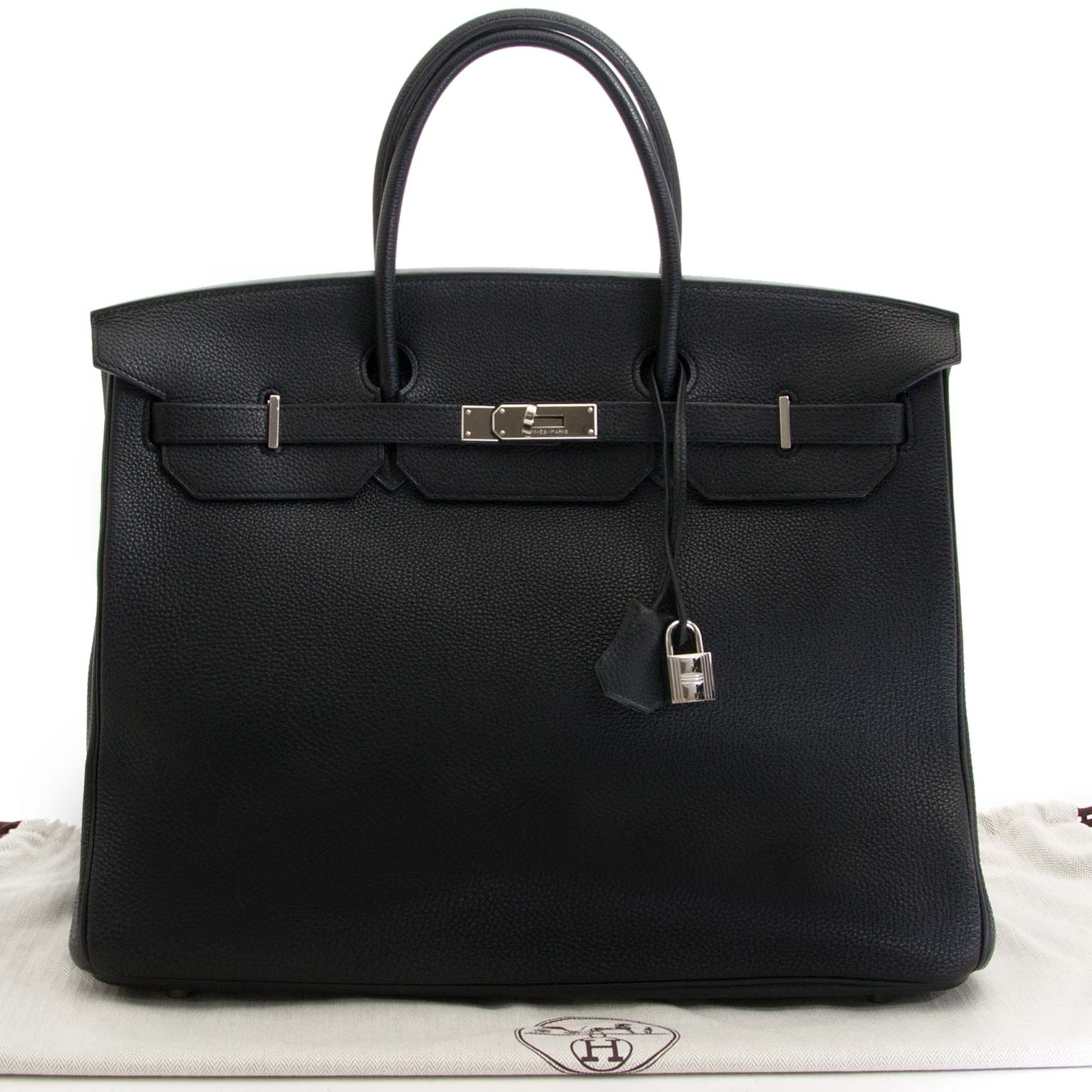 Hermès Birkin 40cm Black Togo PHW for sale at Labellov exclusively