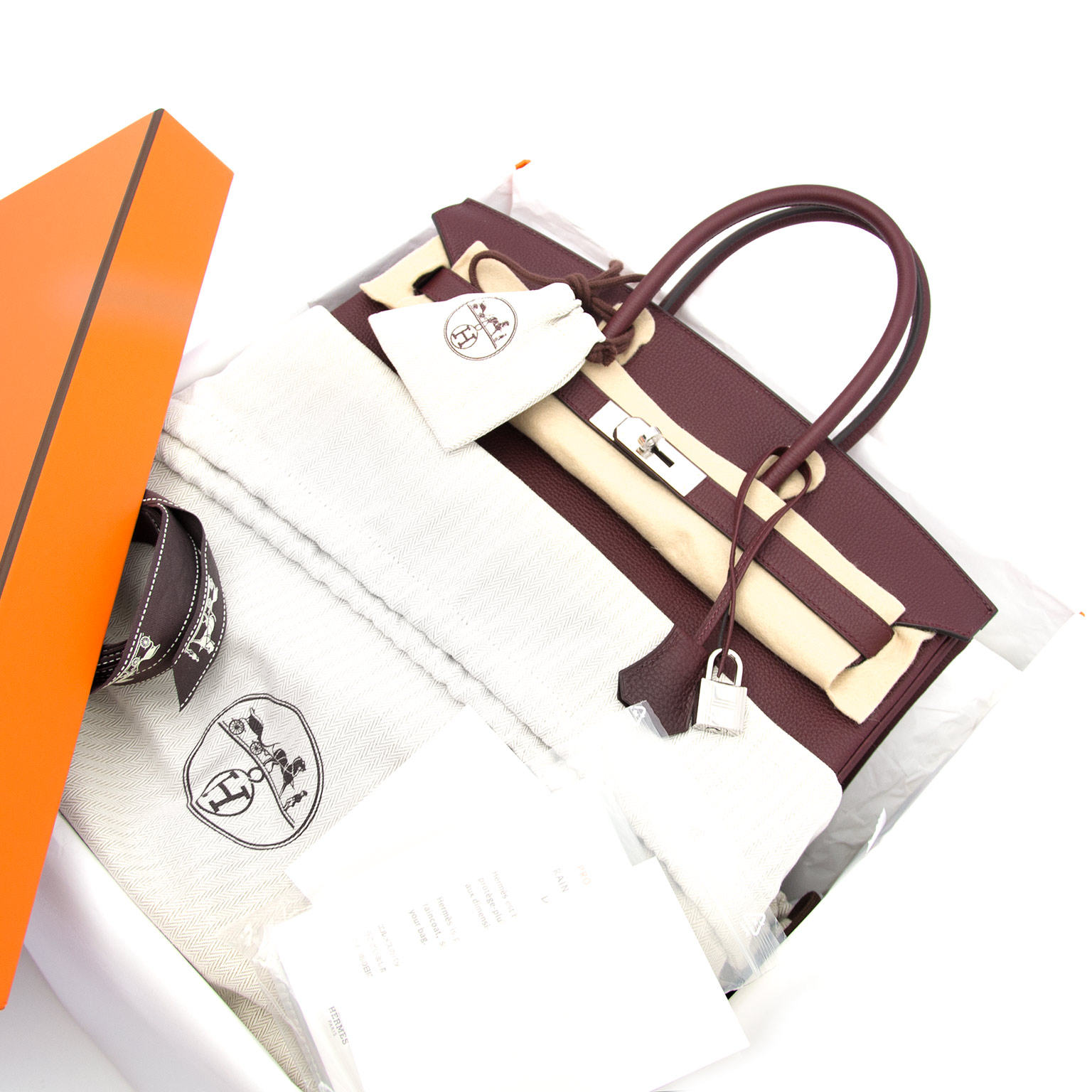 100% authentic hermes birkin 35 togo bordeaux phw now online at labellov.com