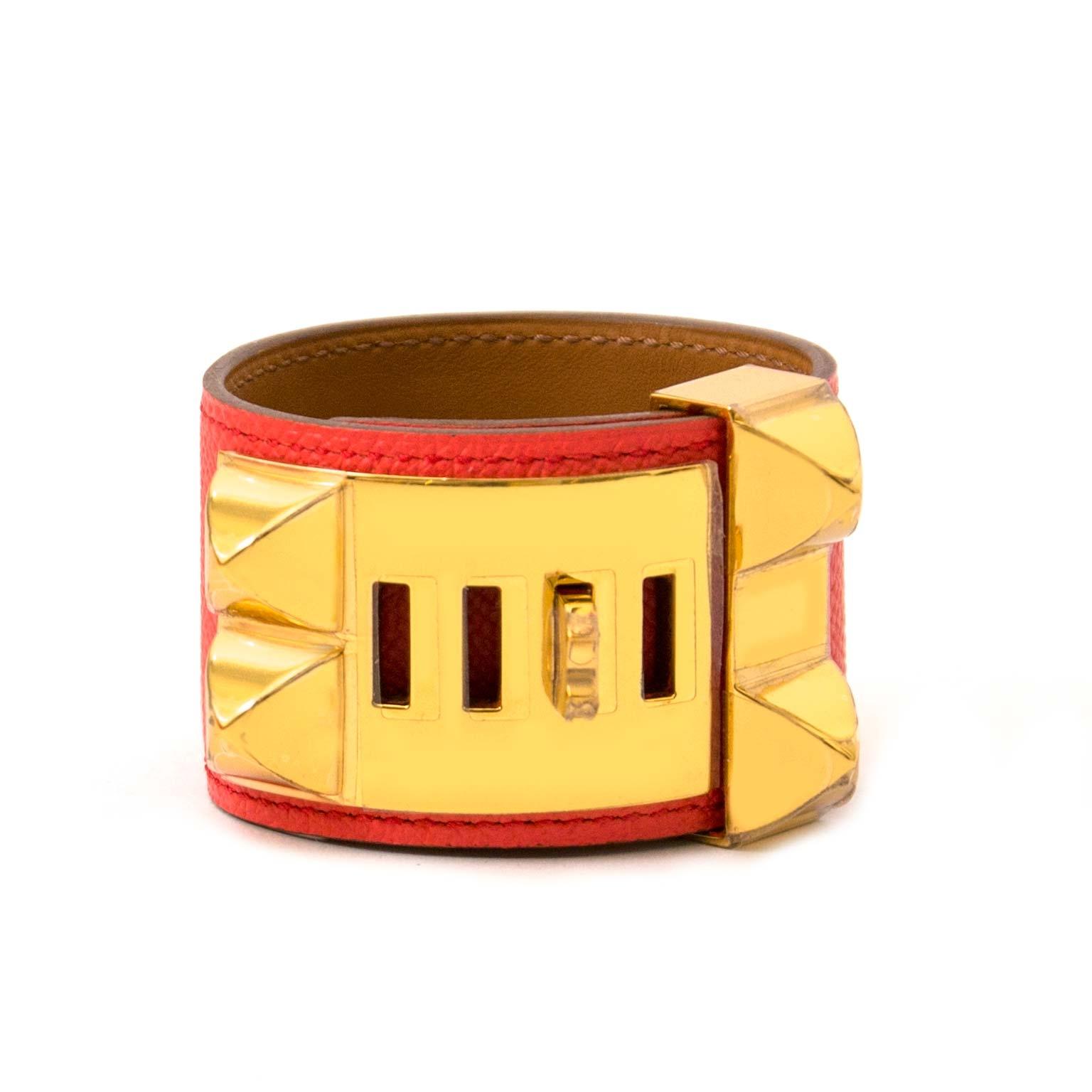 koop veilig online tegen de beste prijs  *Never Used* Hermes Rose Jaipur Epsom Collier De Chien
